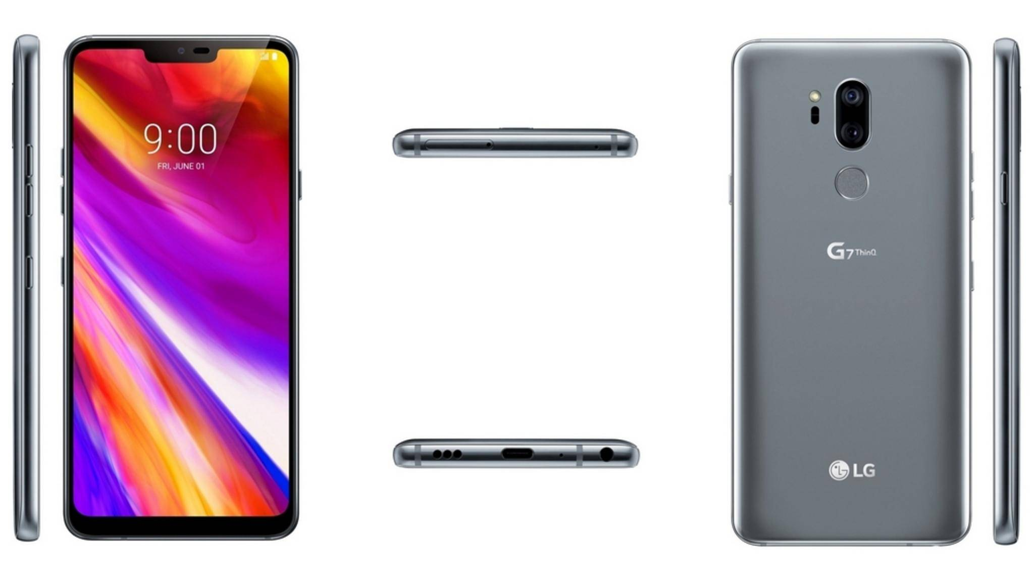 Das LG G7 ThinQ präsentiert sich von allen Seiten.