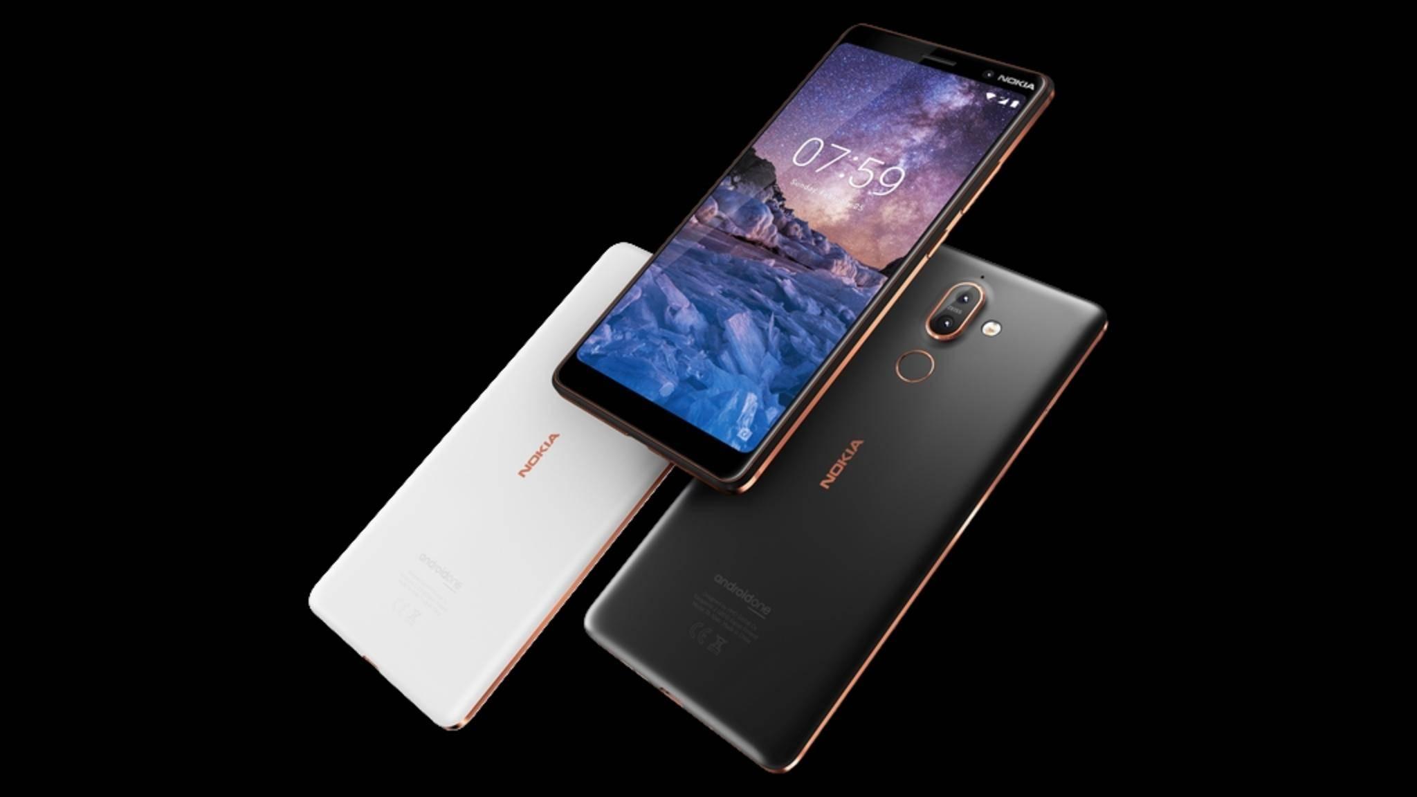 Das Nokia 7 Plus erscheint für 399 Euro.