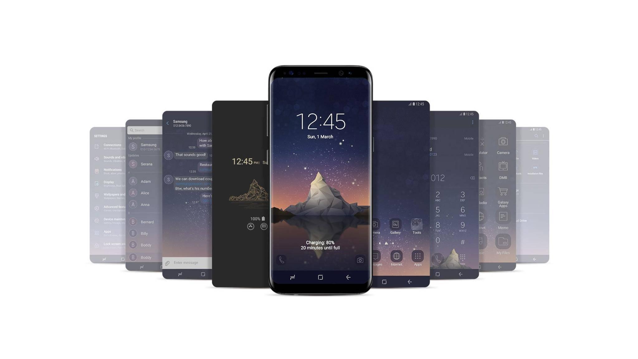 Samsung Themes ermöglichen das Personalisieren Deines Galaxy-Smartphones.