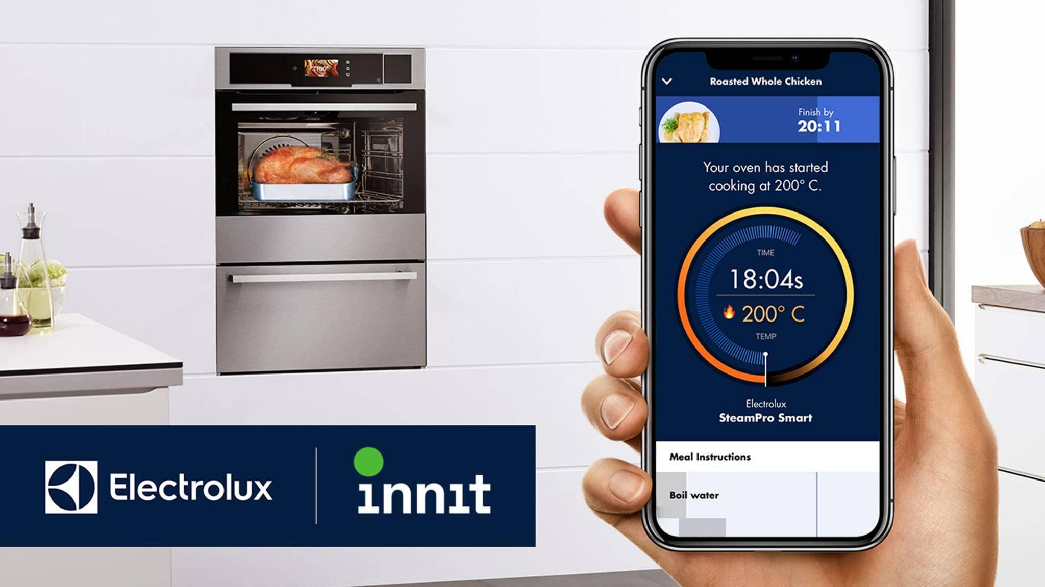 Die Integration von Electrolux-Geräten in die Innit-App soll das Multitasking beim Kochen deutlich erleichtern.