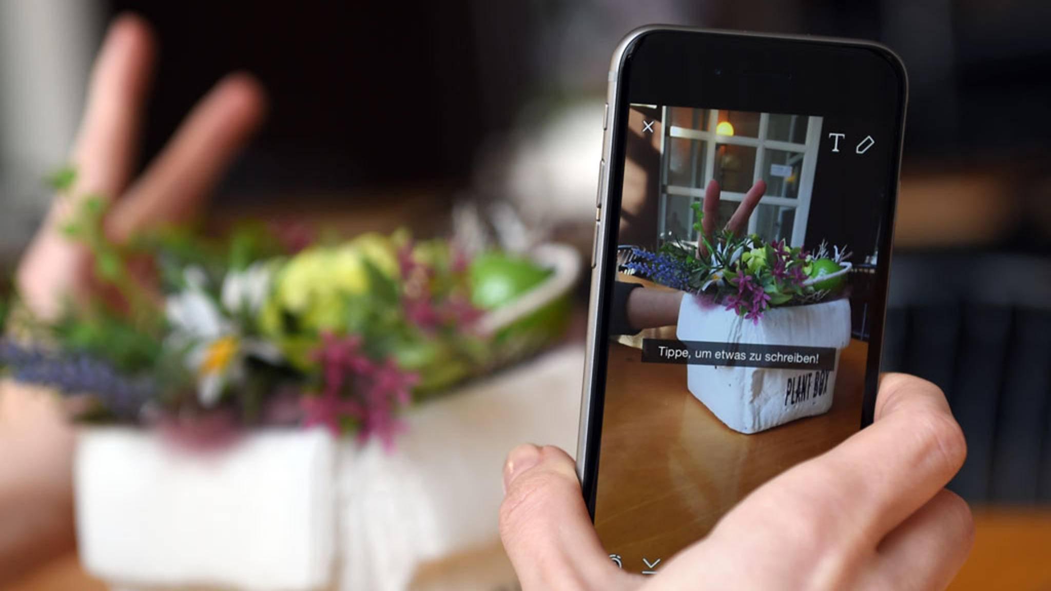Auf dem iPhone kannst Du Snaps sogar freihändig aufnehmen.