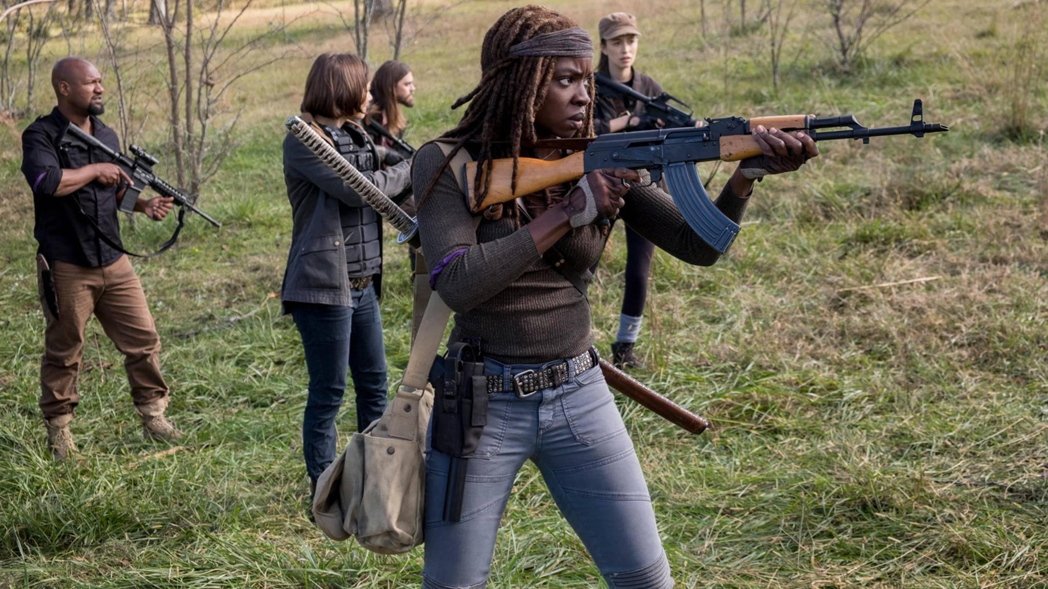 Auch Michonne ist auf dem ersten offiziellen Bild prominent vertreten.