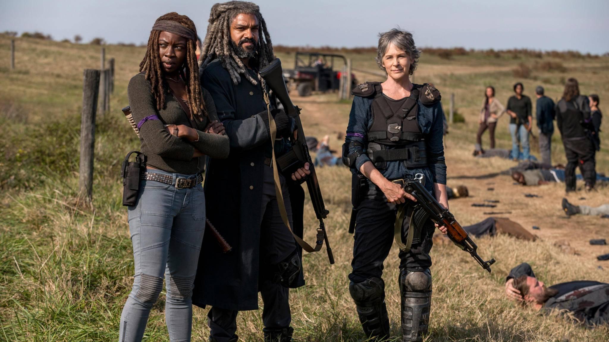Auch Ezekiel ist auf den ersten Fotos von Staffel 9 zu bewundern – und noch etwas grauer.