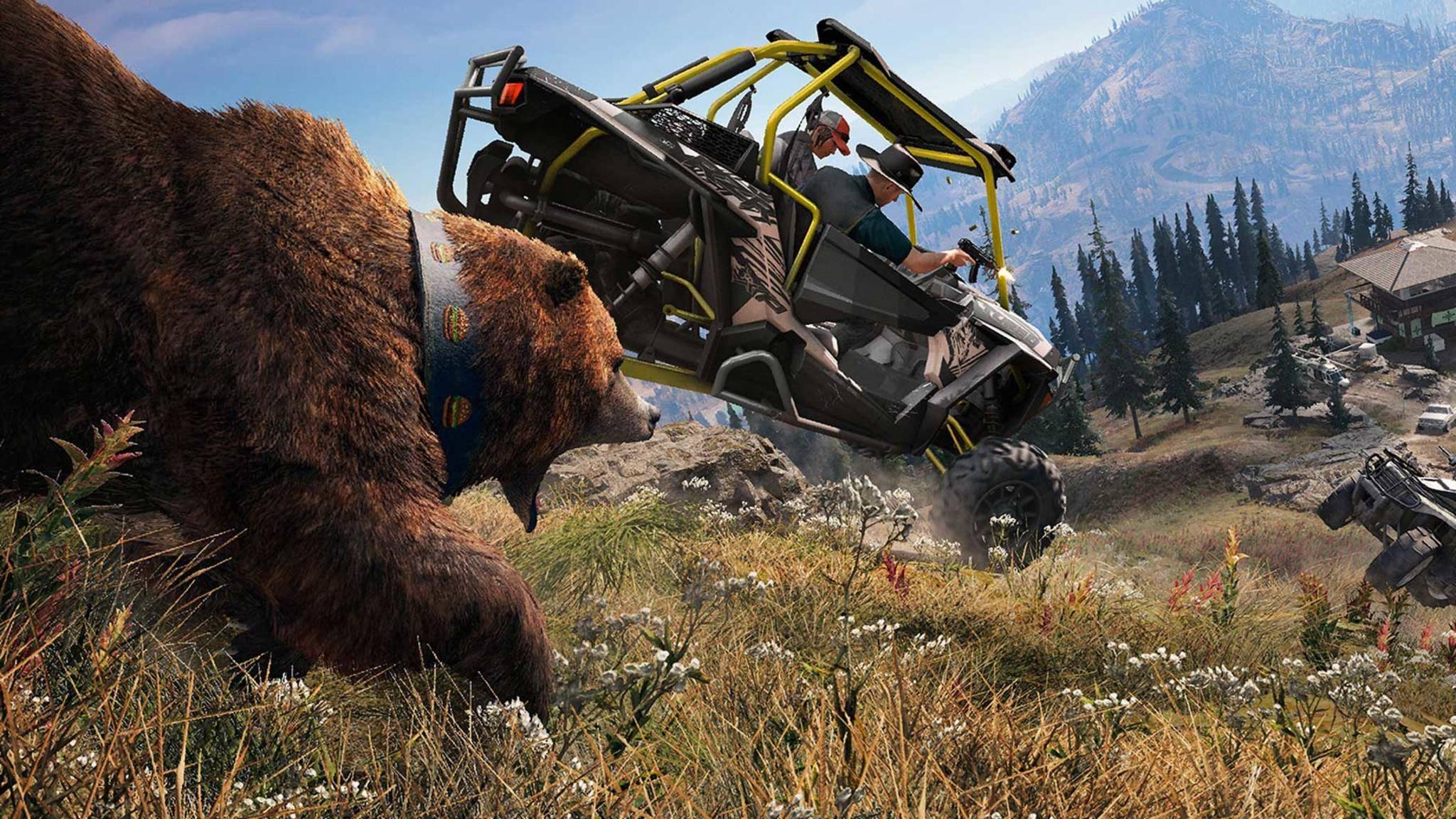 """""""Far Cry 5"""": So findest Du alle drei tierische Begleiter im Spiel."""