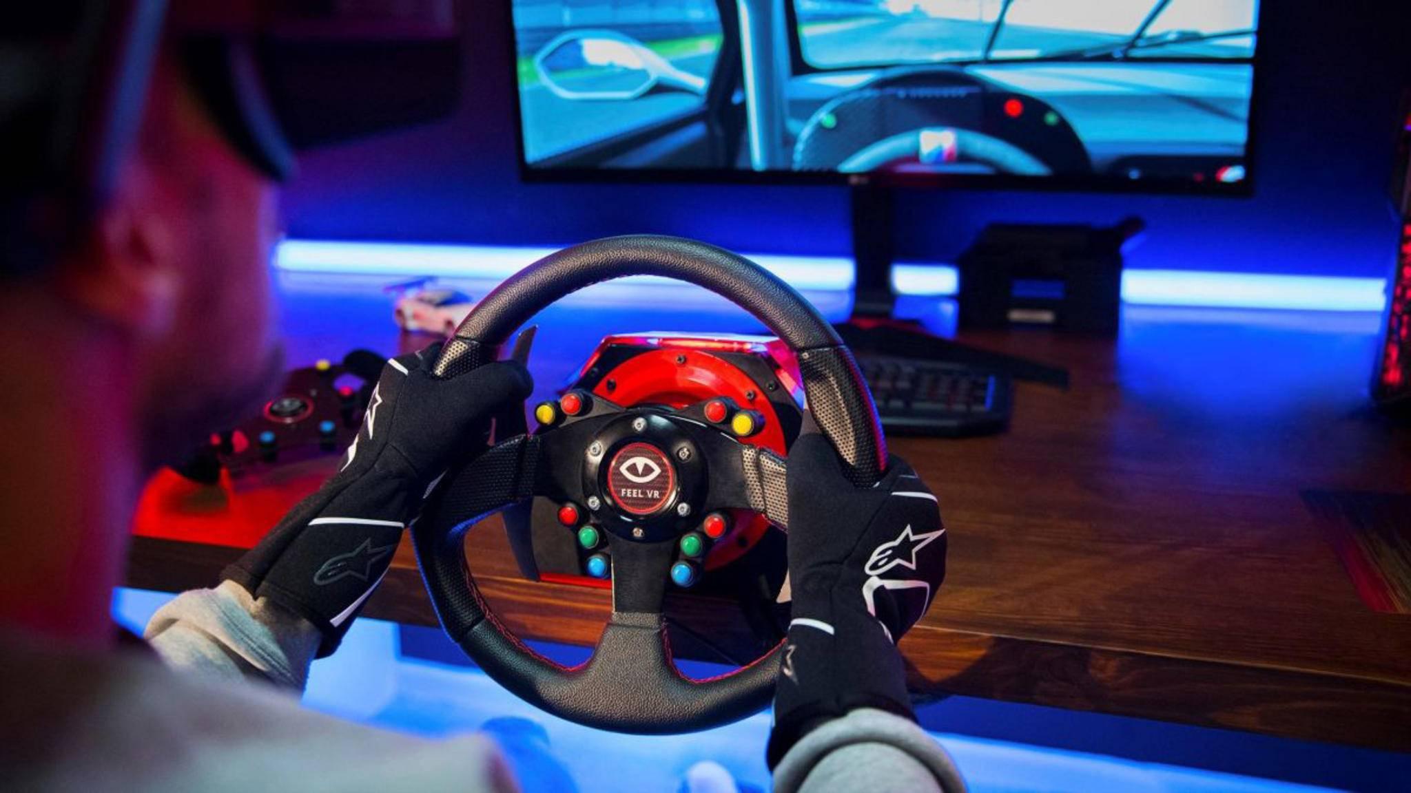 Feel VR ist ein realistisches Gamer-Lenkrad zu einem fairen Preis.