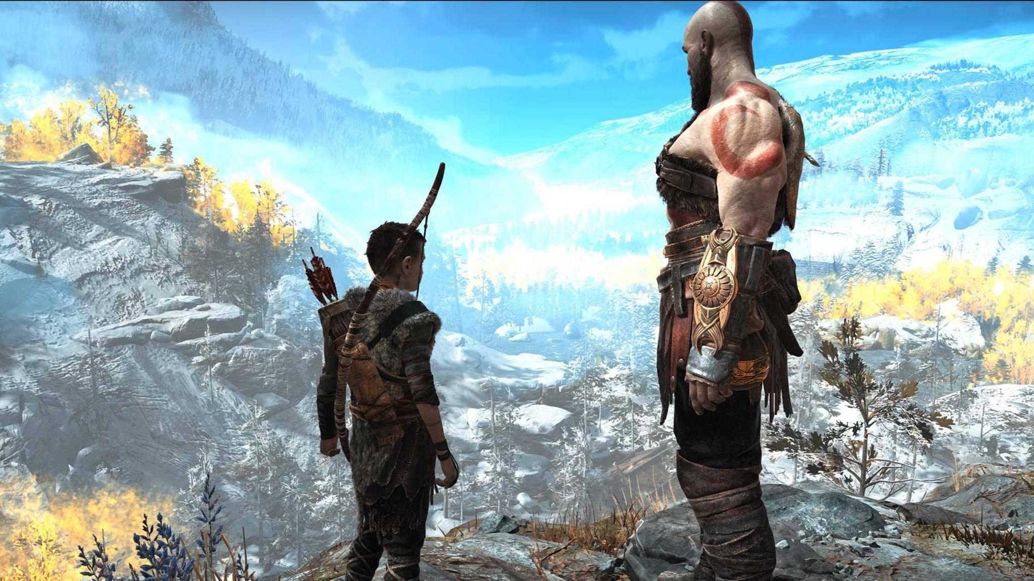 """Roadtrip mit Sohn: Kratos reist in """"God of War"""" durch die germanische Mythologie."""
