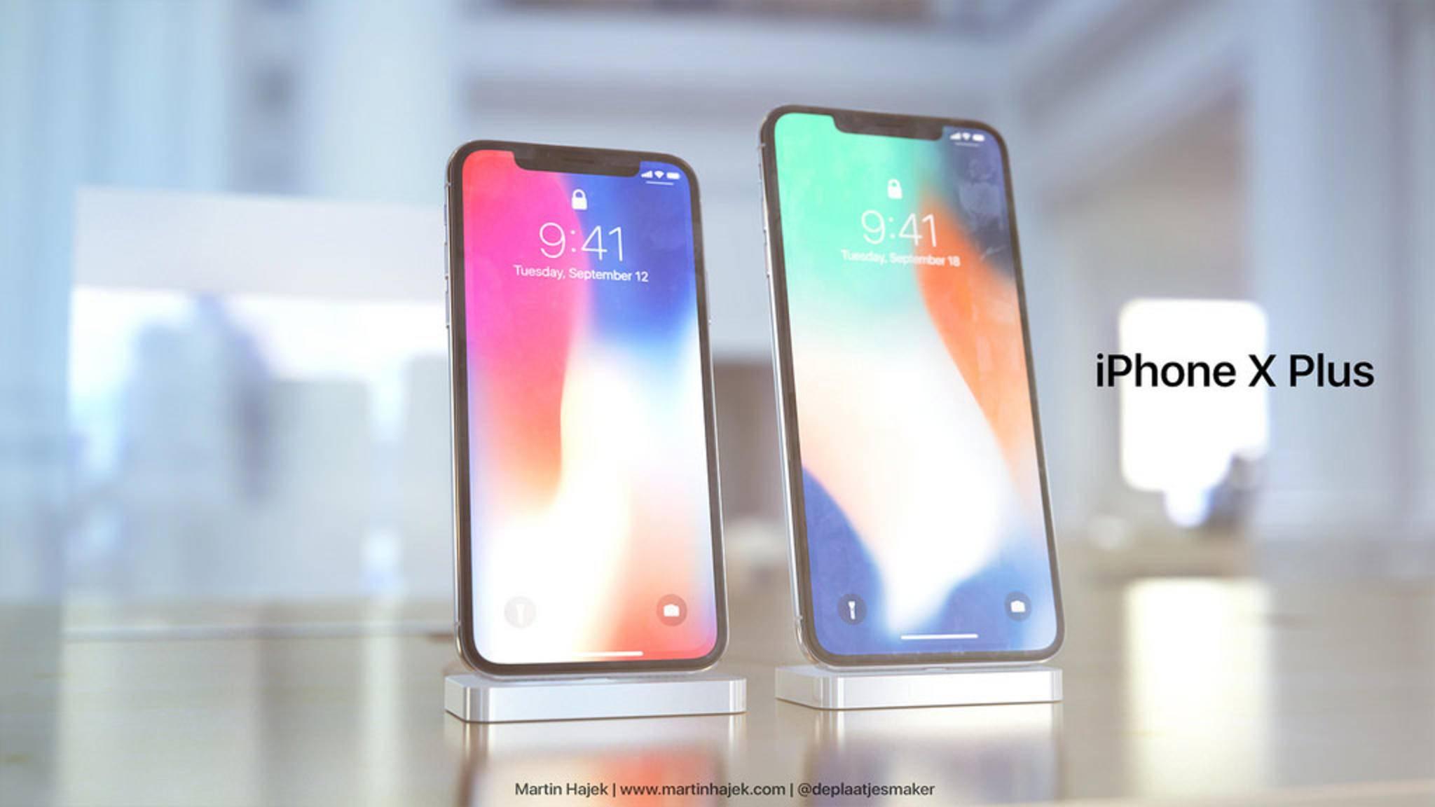 Das iPhone X Plus soll nicht größer als das iPhone 8 Plus ausfallen, aber dennoch mehr Bildschirmdiagonale bieten.