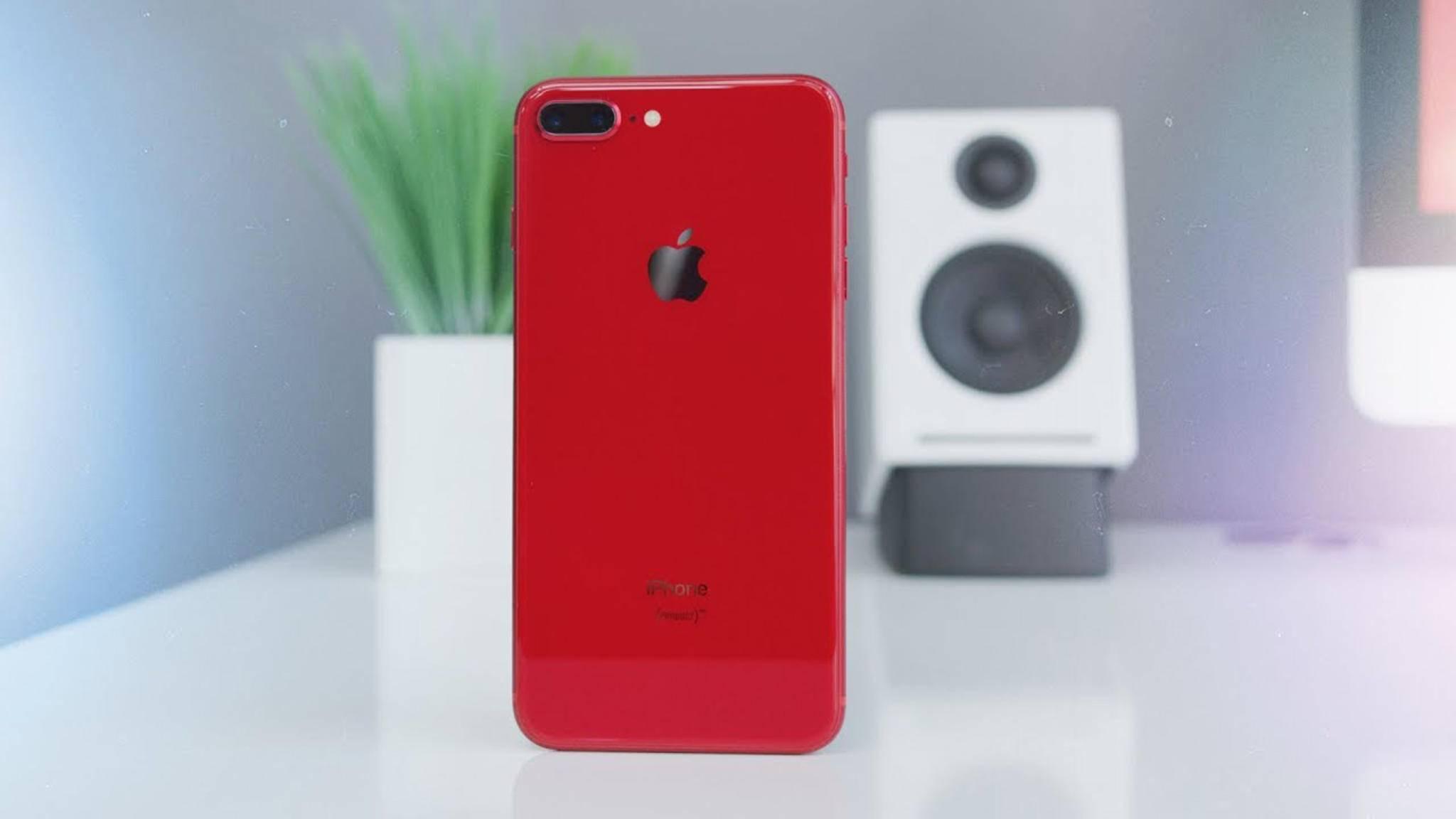 Gibt es jetzt auch in Rot: Das iPhone 8 (Plus).