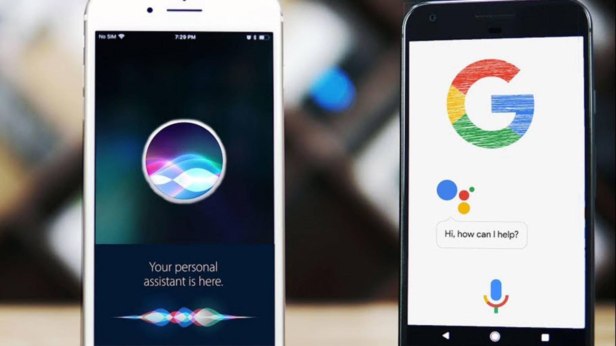 Siri holt langsam aber sicher zum Google Assistant auf.