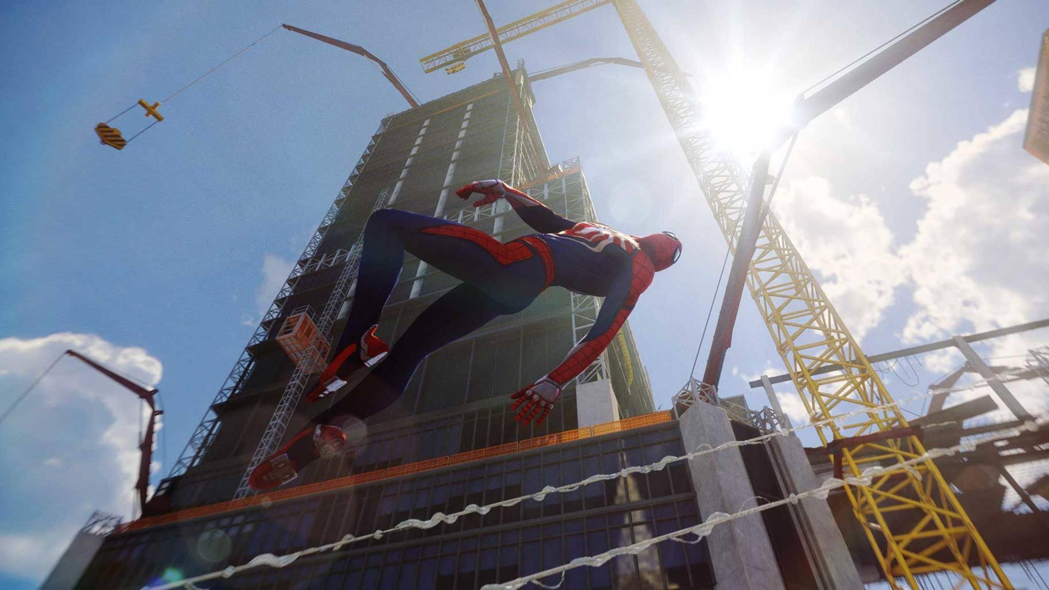 """Anhand von """"Spider-Man""""-Gameplay-Videos präsentierte Sony die Fähigkeiten der PS4 Pro."""