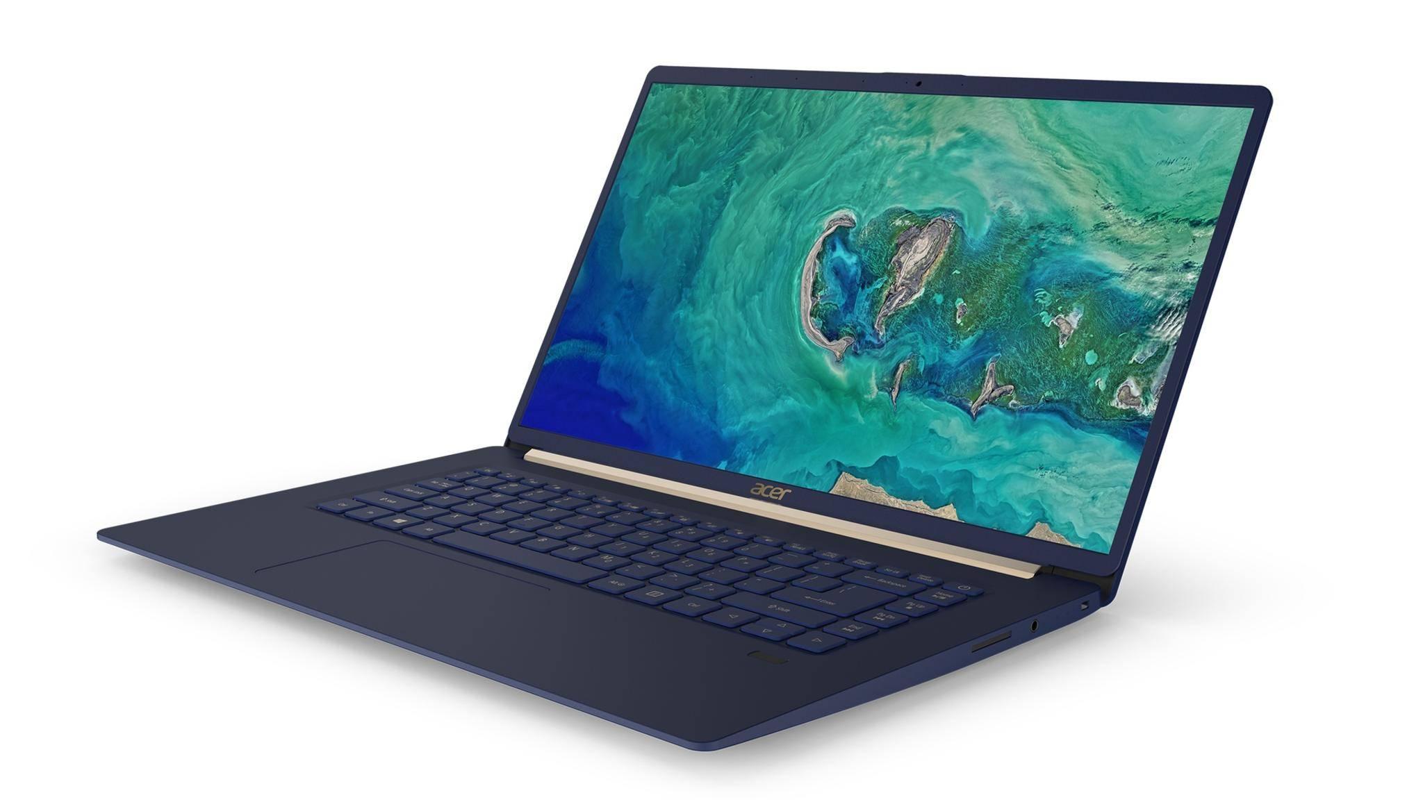Das Acer Swift 5 hat einen sehr dünnen Displayrahmen.