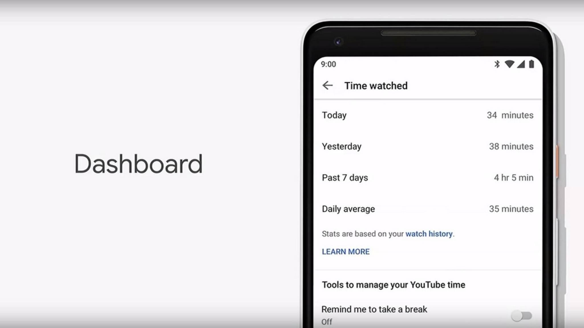 User bekommen dadurch einen Überblick über ihr Nutzungsverhalten.