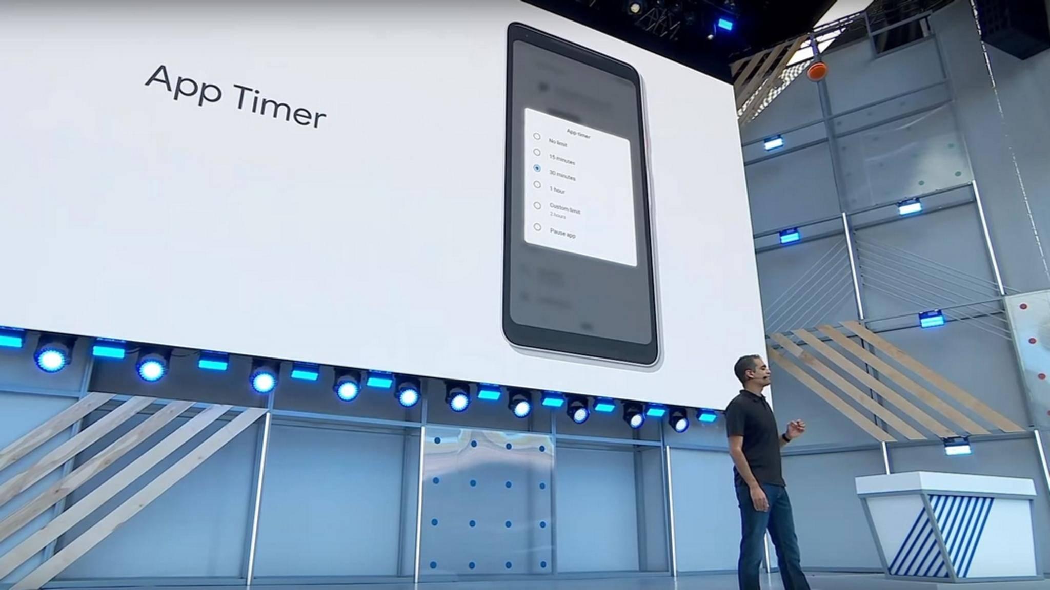 Mit einem App-Timer lässt sich bald die Nutzungsdauer einzelner Android-Apps beschränken.