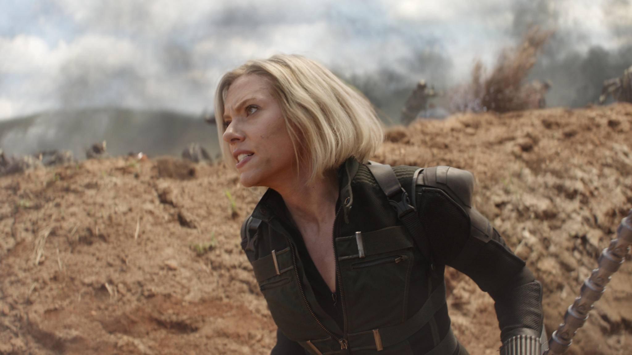 Sie ist bereit: Black Widow stürmt ihrem Solo-Auftritt entgegen.