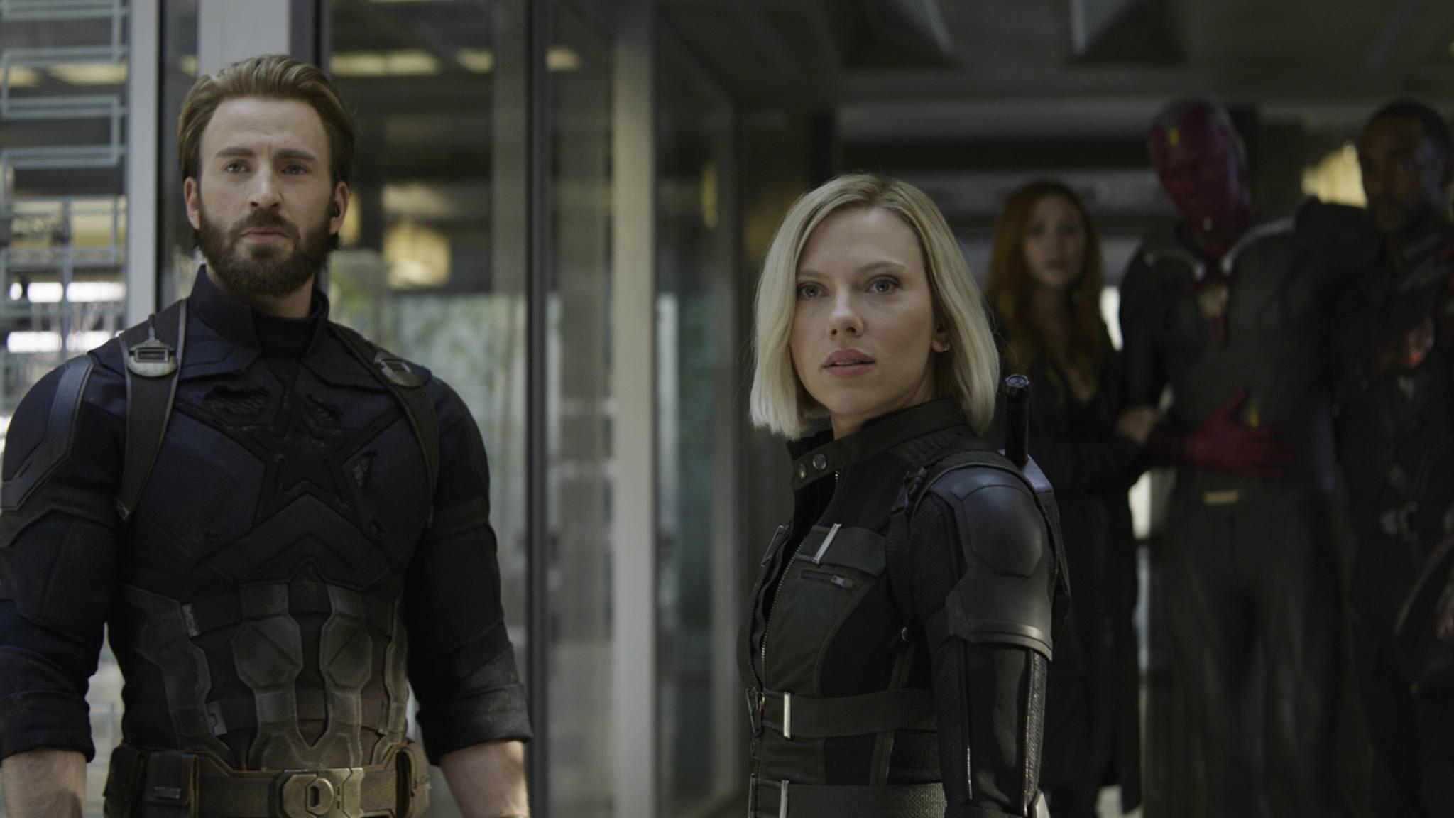 The Wasp führte die Avengers am zweitlängsten an – am längsten hielt sich Captain America (Chris Evans, links) als Anführer der Rächer.