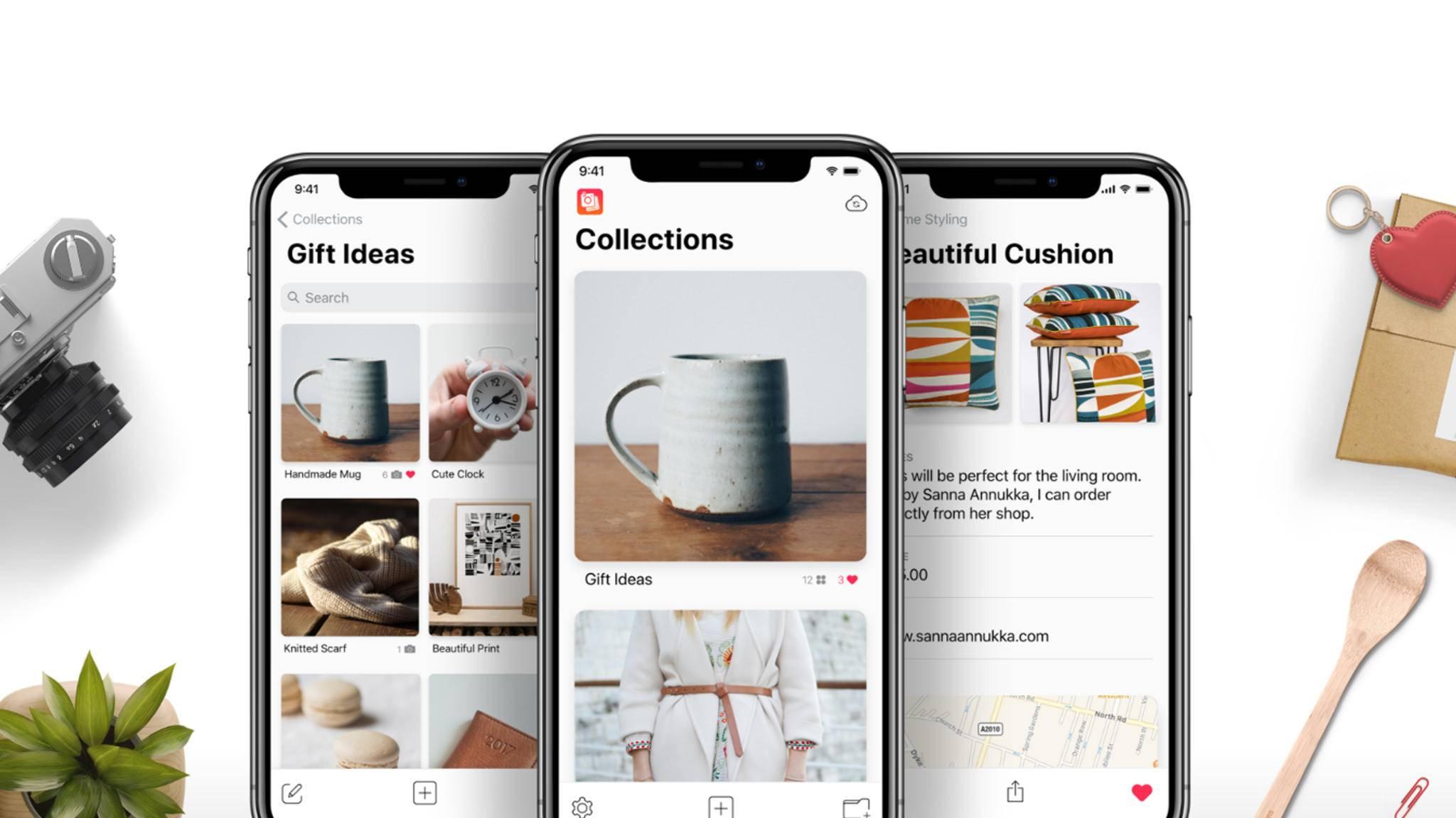Die App Collections hilft Dir, Deine Bilder zu organisieren.