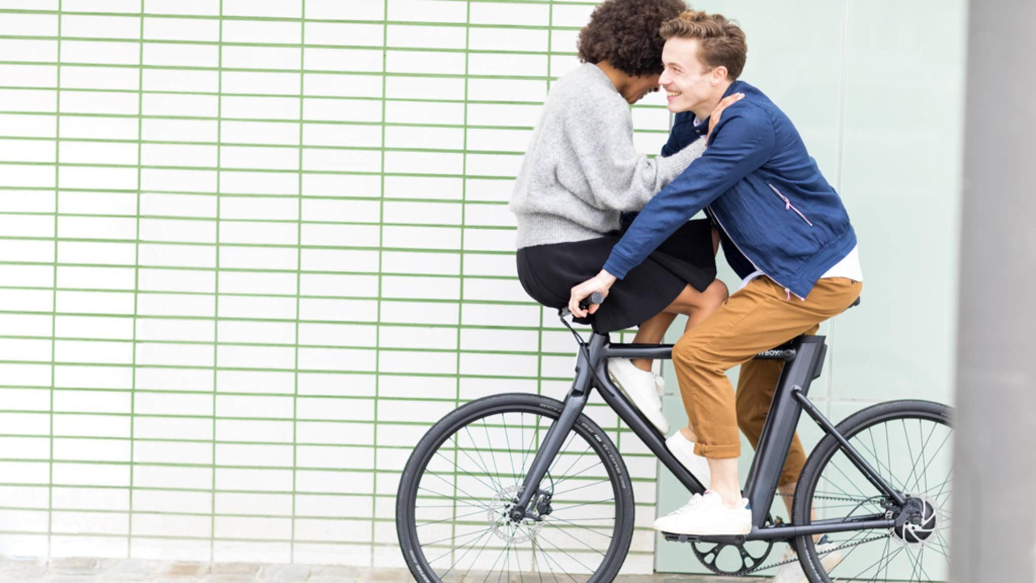 Auf den ersten Blick sieht das Cowboy-Bike aus wie ein ganz normales Fahrrad.