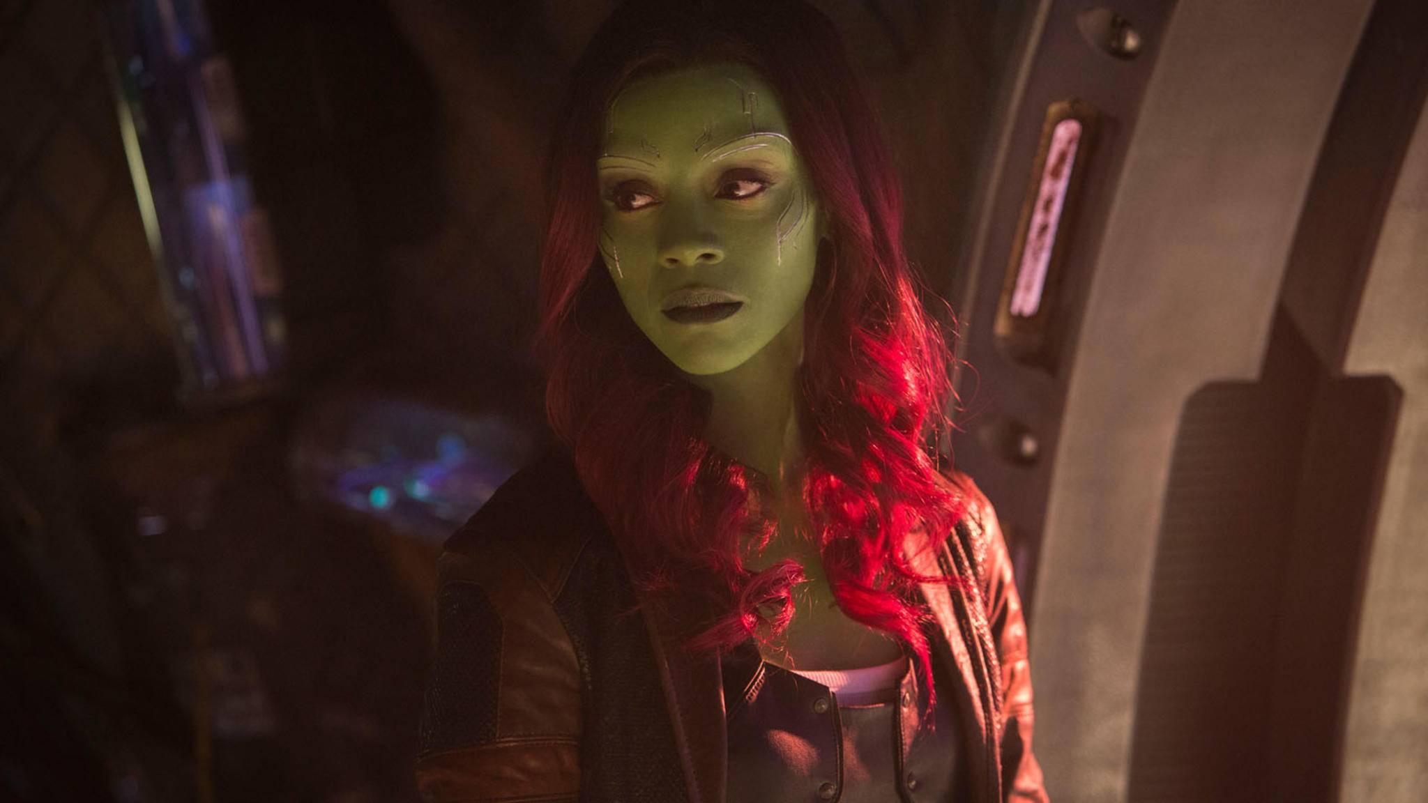 """Für Gamora scheint Thanos eine Schwäche zu haben. Er bezeichnet sie wiederholt als seine """"Lieblingstochter"""" – selbst in Anwesenheit von Nebula."""