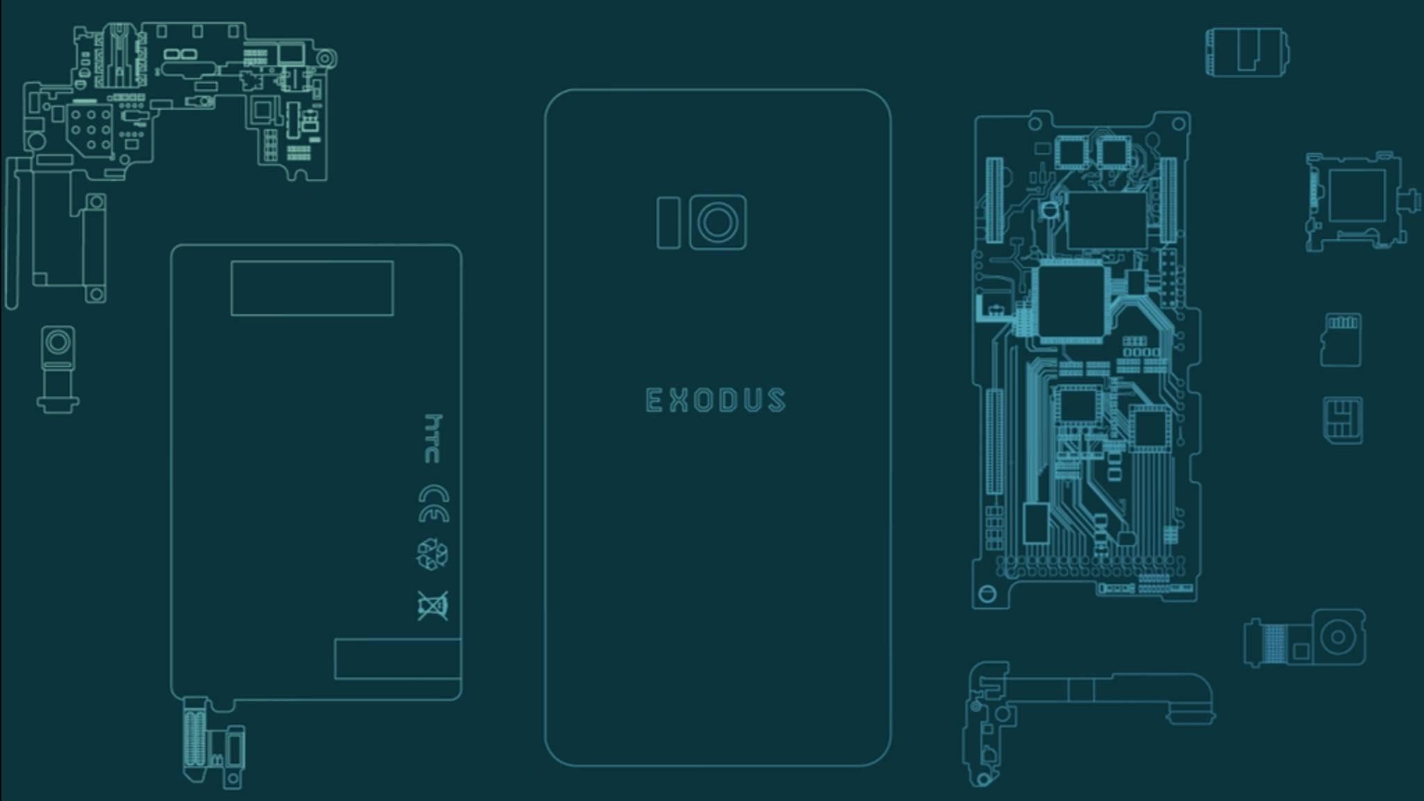 Vom HTC Exodus existieren bislang nur mysteriöse Skizzen.