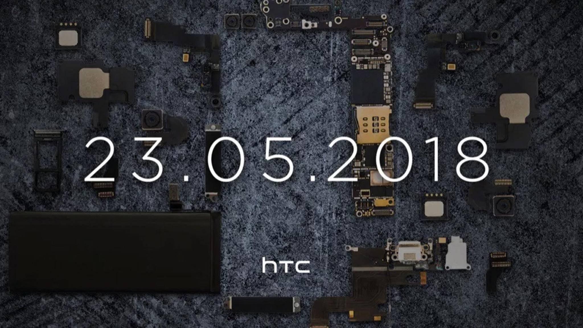 """HTC kündigt ein Smartphone an, das """"mehr als die Summe seiner Teile"""" ist."""