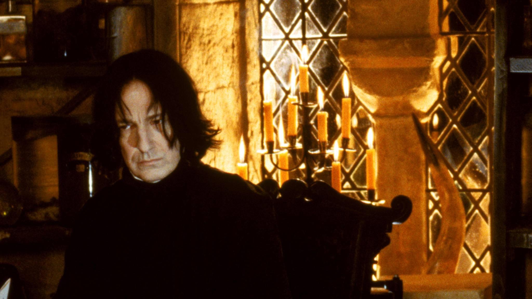 Keine Frage: Alan Rickman war der geborene Severus Snape! Das sah J. K. Rowling offenbar genauso ...