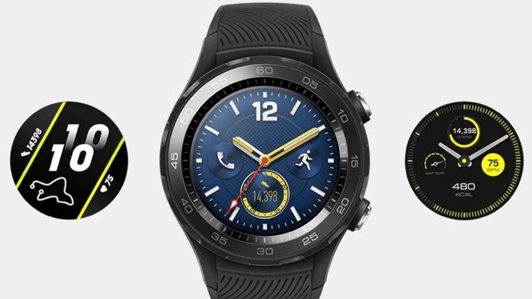 So soll die Huawei Watch 2 (2018) aussehen.