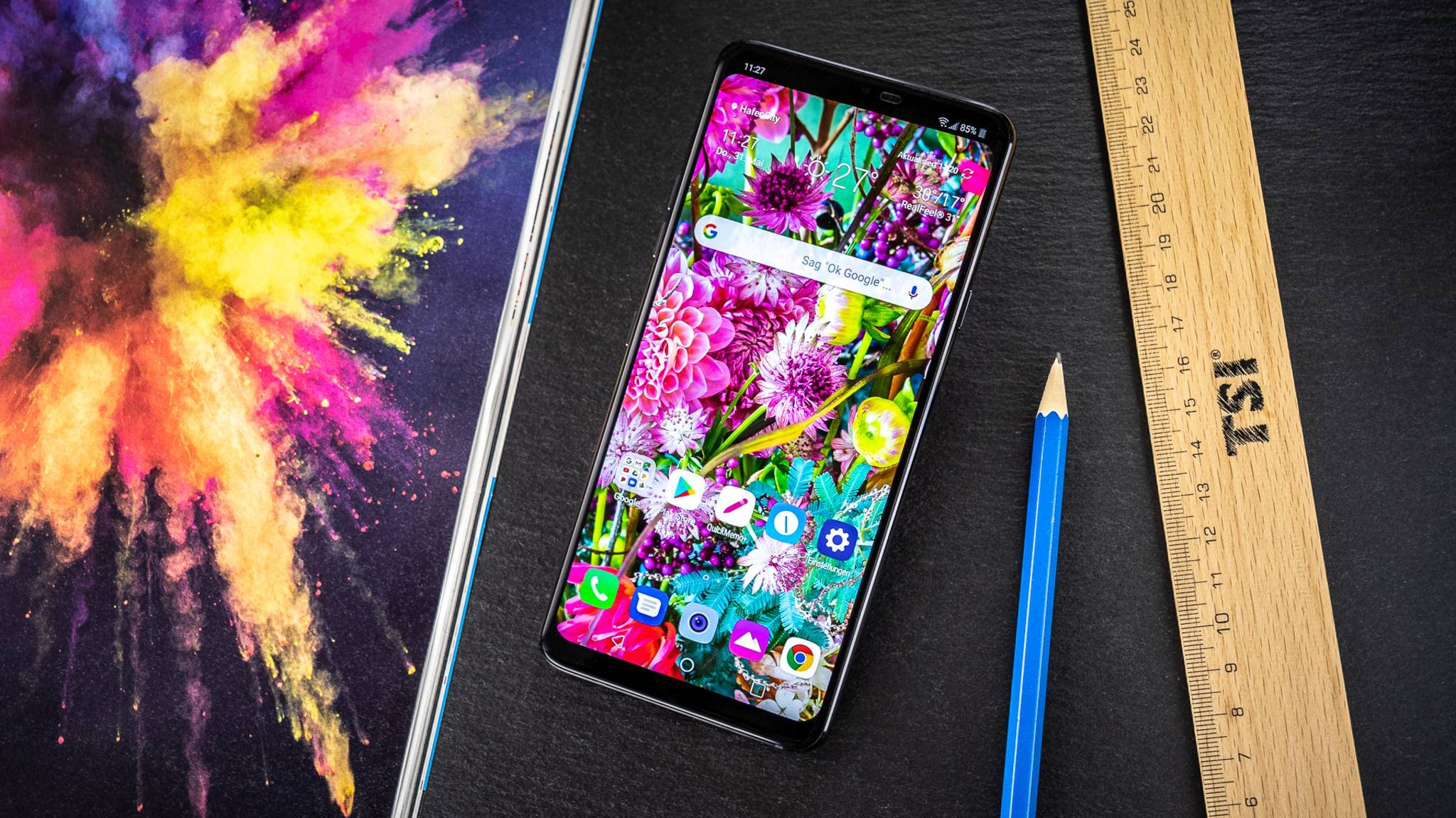 Das LG G7 ThinQ überzeugt unter anderem mit einem sehr hellen Display.