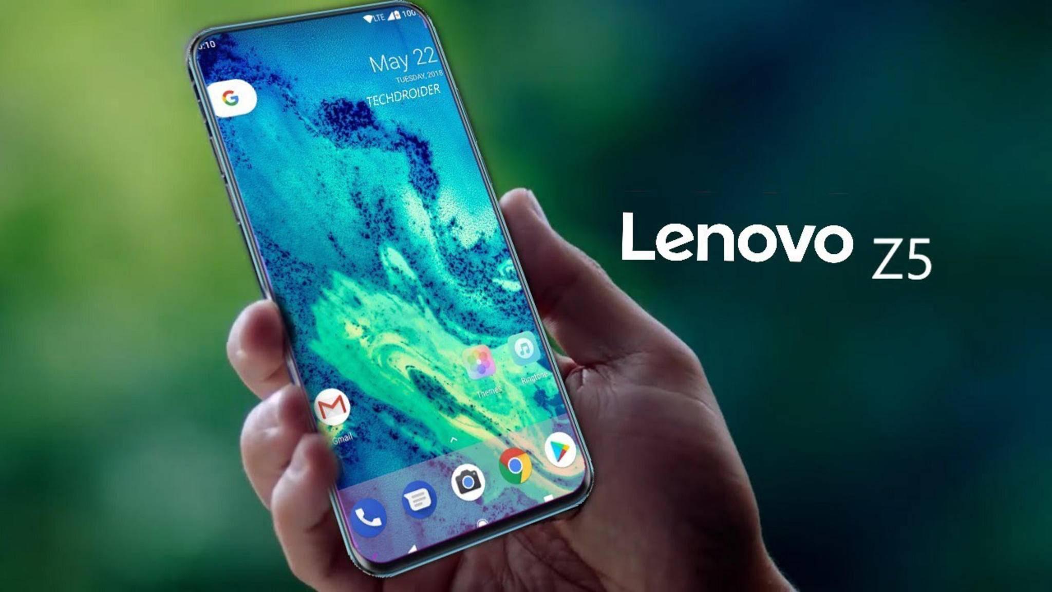 Die Glasrückseite des Lenovo Z5 mit Farbeffekt erinnert an jene des Huawei P20.