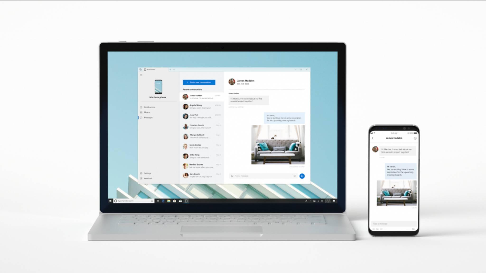 Die neue YouPhone-App spiegelt das Smartphone auf dem Desktop-PC.