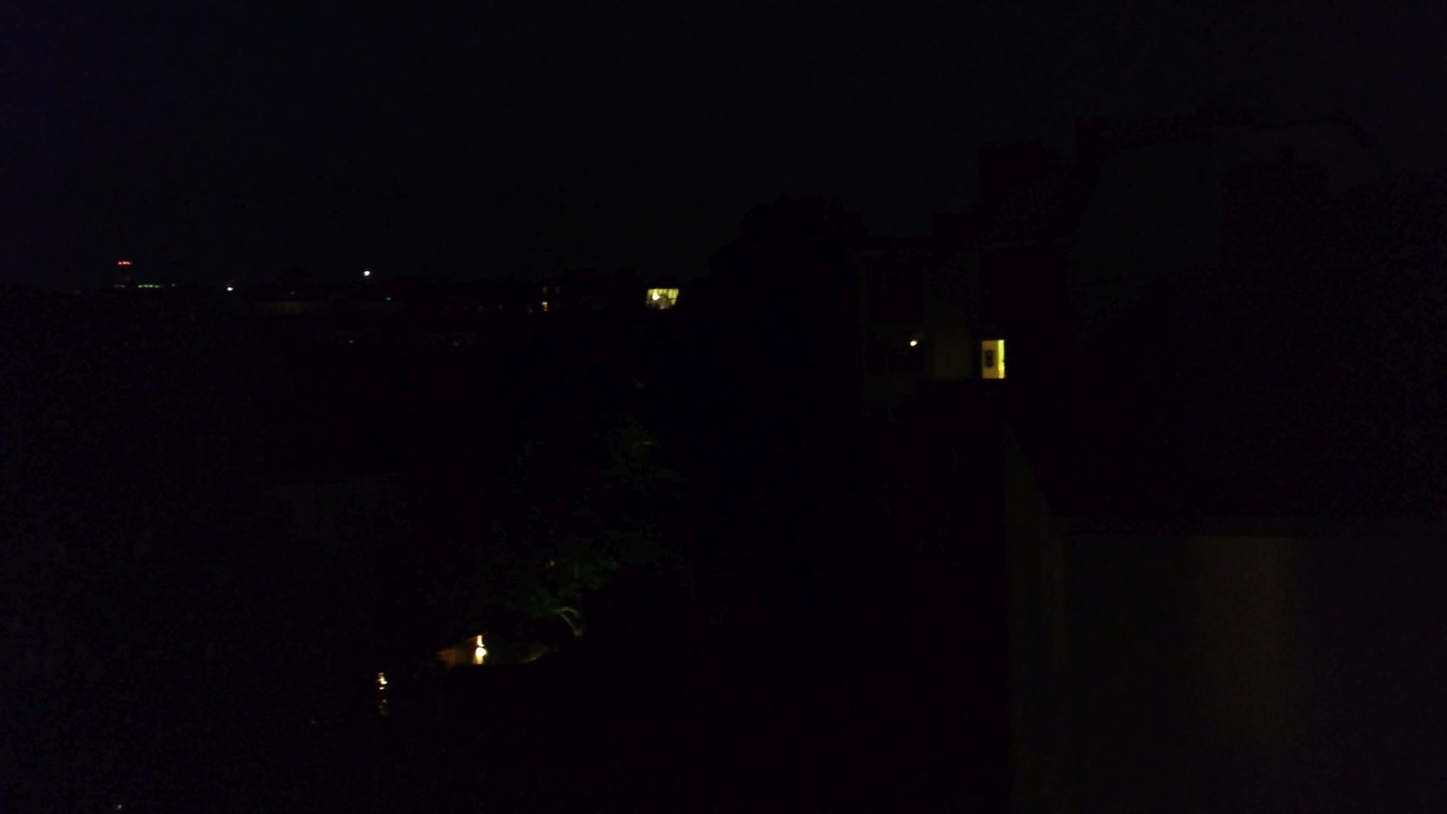 In der Dunkelheit ist das Motiv kaum noch zu erkennen.