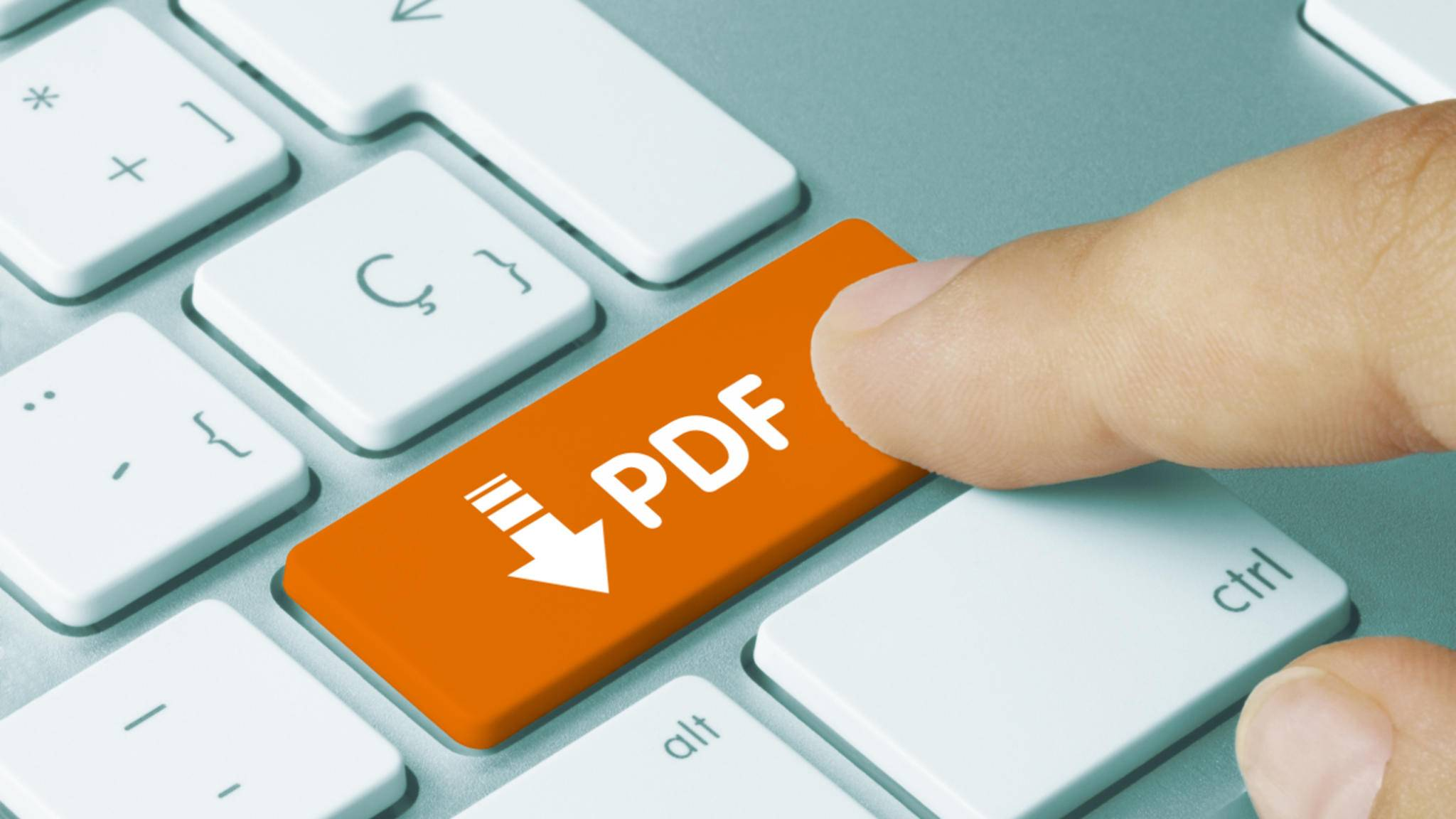 Das Kopieren von Text aus einem PDF ist nicht schwierig.