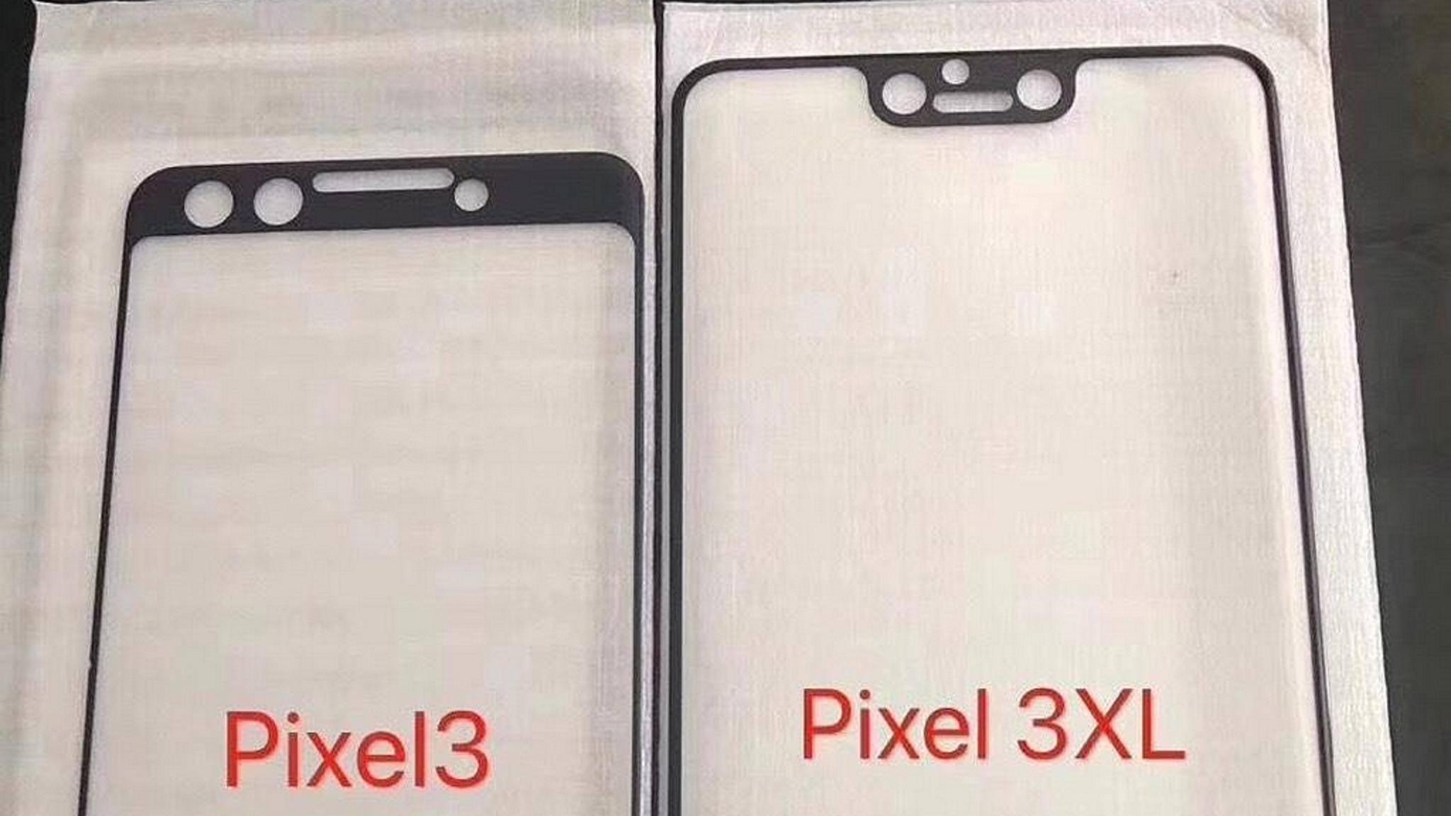 Pixel 3 und Pixel 3 XL könnten unterschiedliche Designs bekommen.