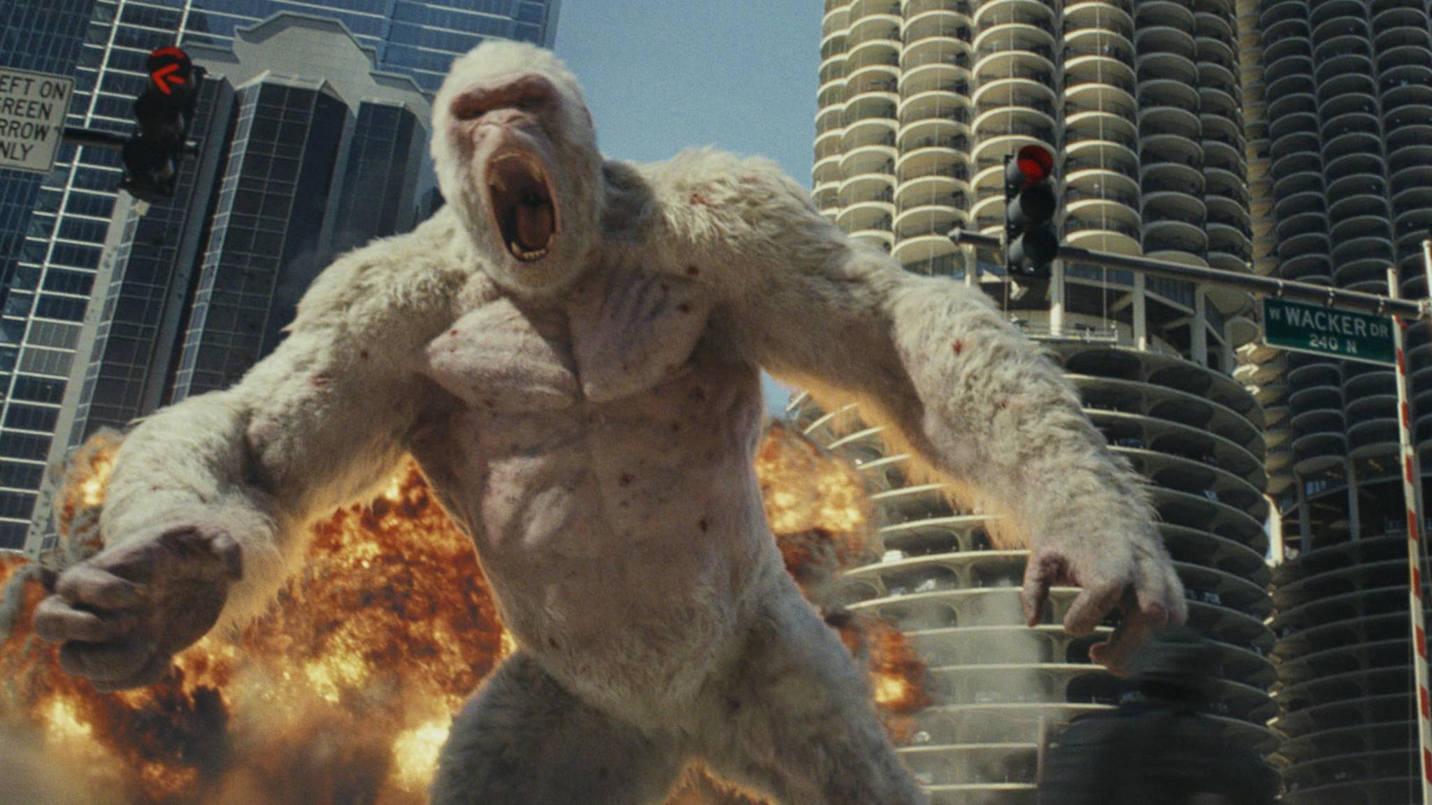 """Kritiker finden: Das Ende von """"Rampage"""" hätte durchaus länger sein können."""