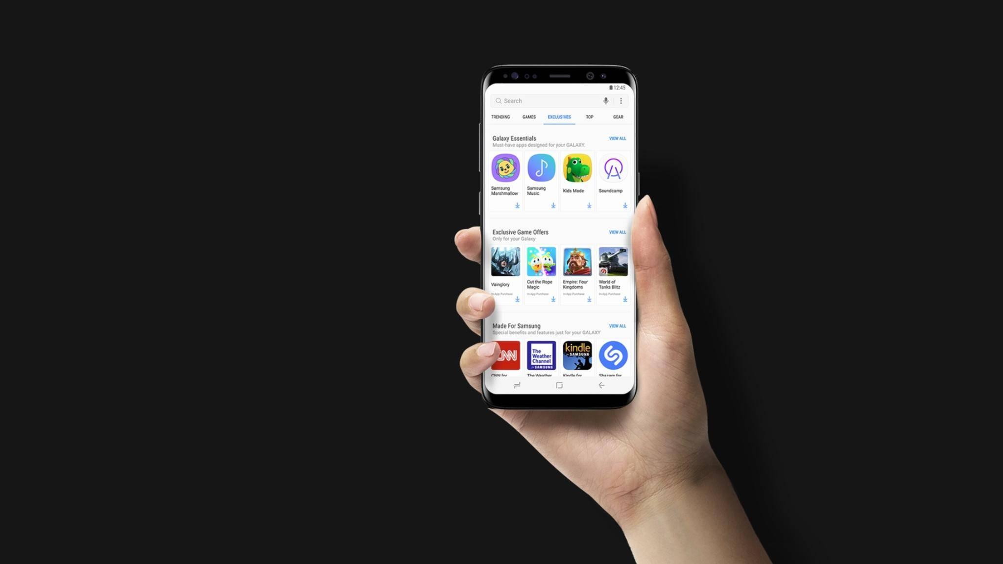 """Die """"Samsung Billing""""-App hängt mit Samsungs App-Store zusammen."""