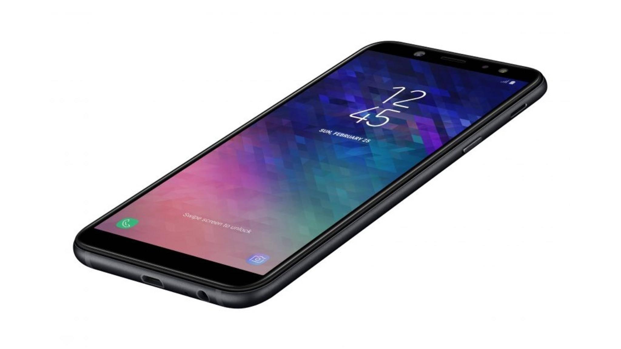 Das Galaxy A6 setzt auf ein Metallgehäuse.
