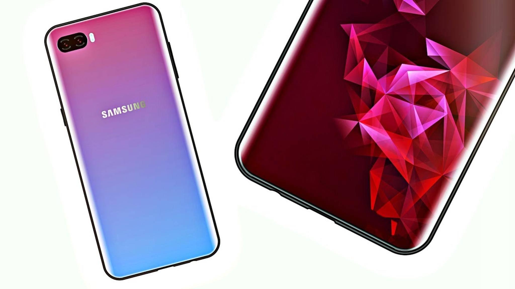 Das Galaxy S10 (Konzeptbild) soll noch einmal einen Sprung in Sachen Display machen.