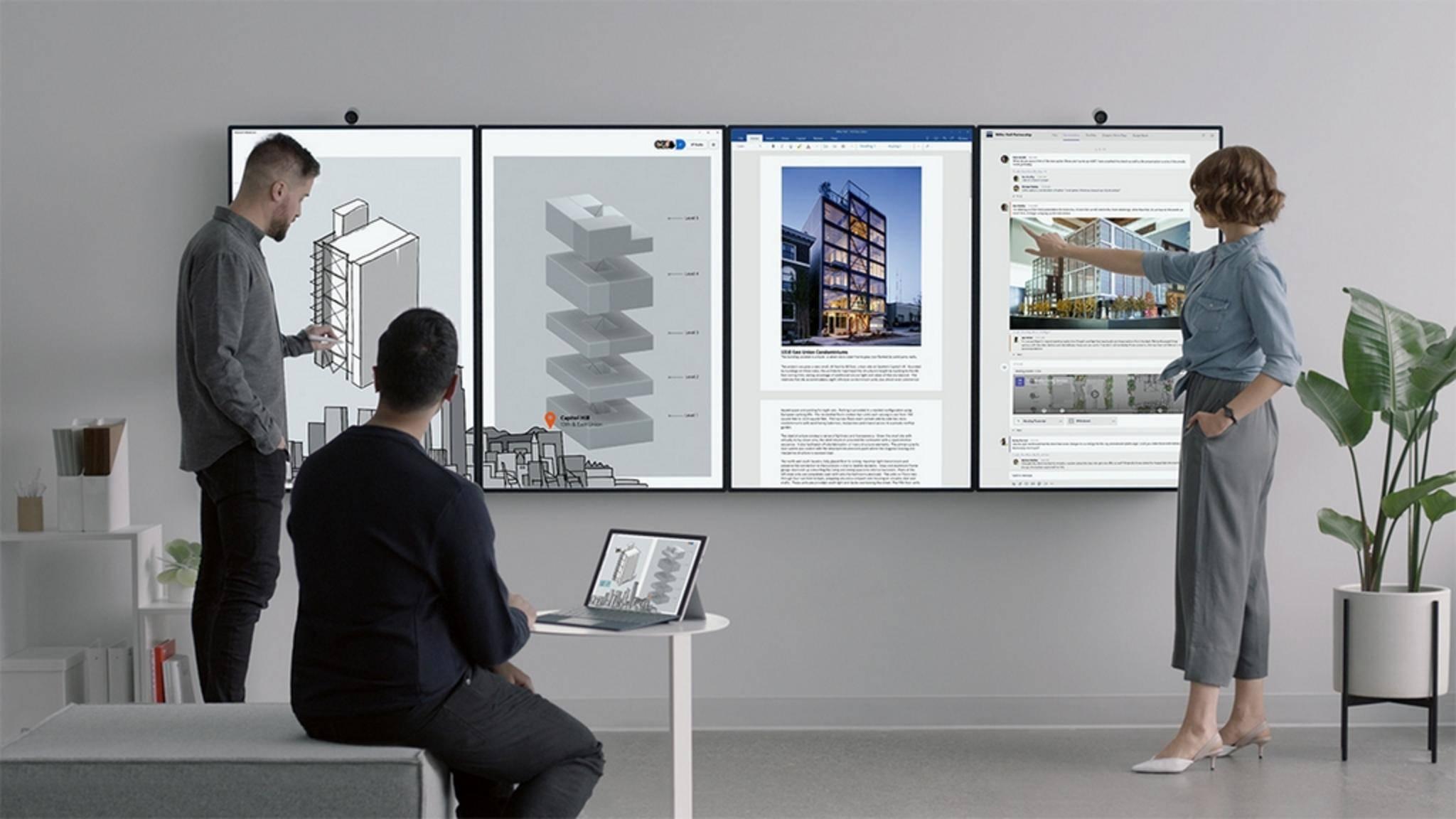 Das Surface Hub 2 soll der ultimative Monitor für interaktives Arbeiten sein.