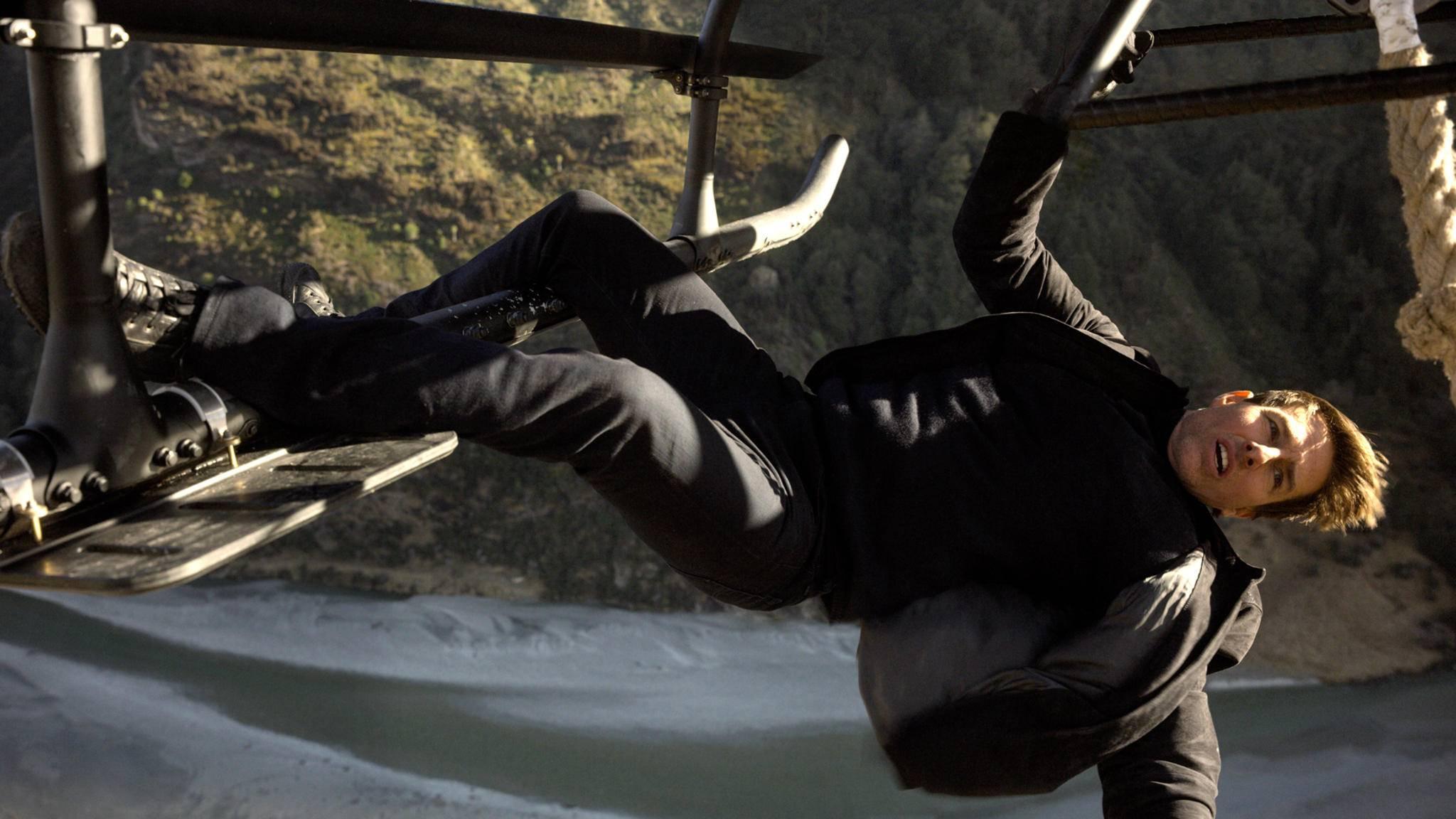 Für Tom Cruise kann es bei Stunts gar nicht hoch genug sein.