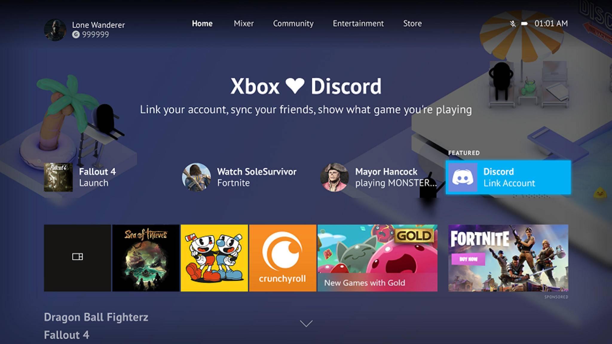 Microsoft lässt Dich Deinen Xbox-Live-Account jetzt mit Deinem Discord-Profil verknüpfen.