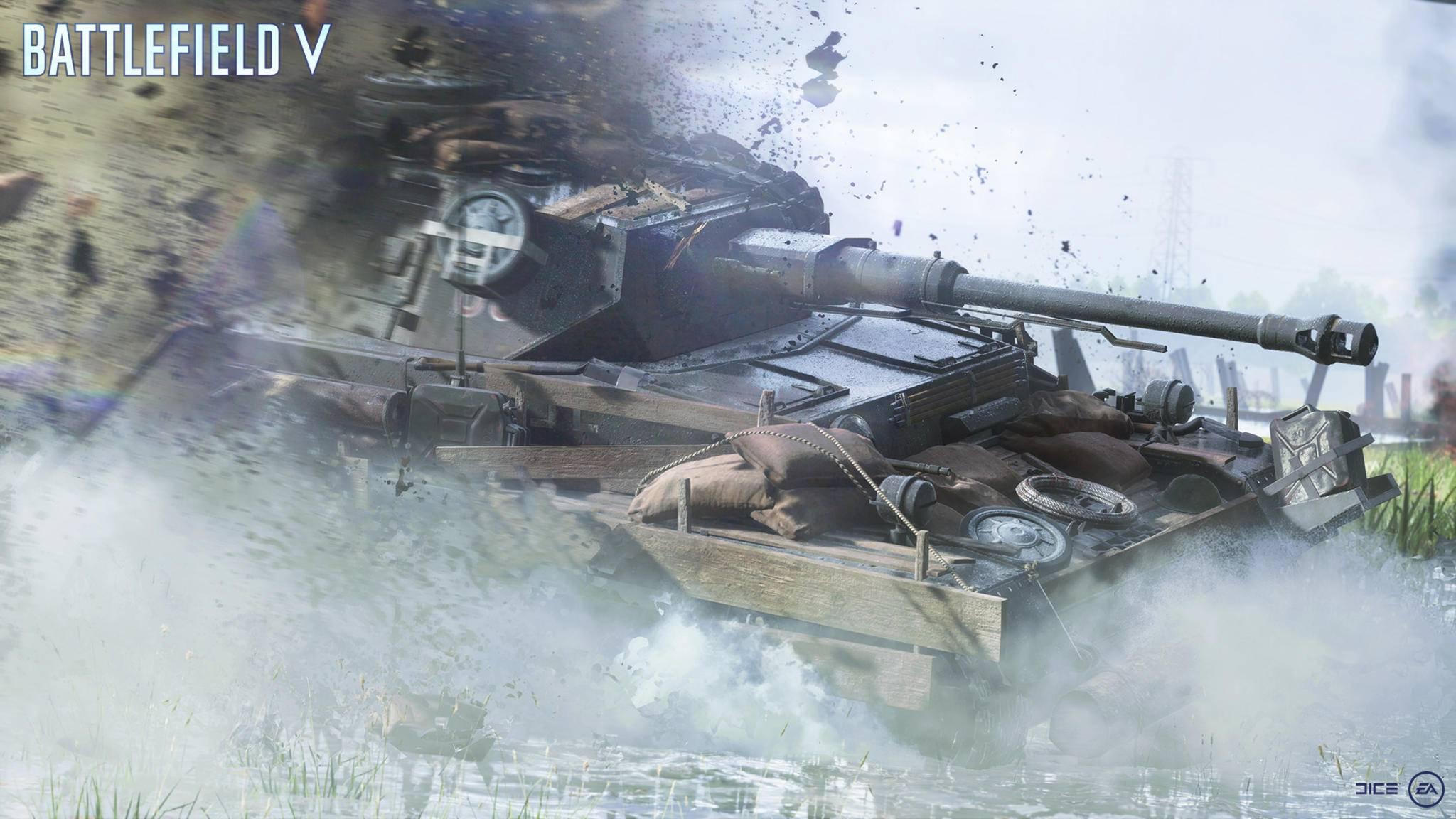 """""""Battlefield 5"""": So rufst Du Panzer als Verstärkung auf die Map."""