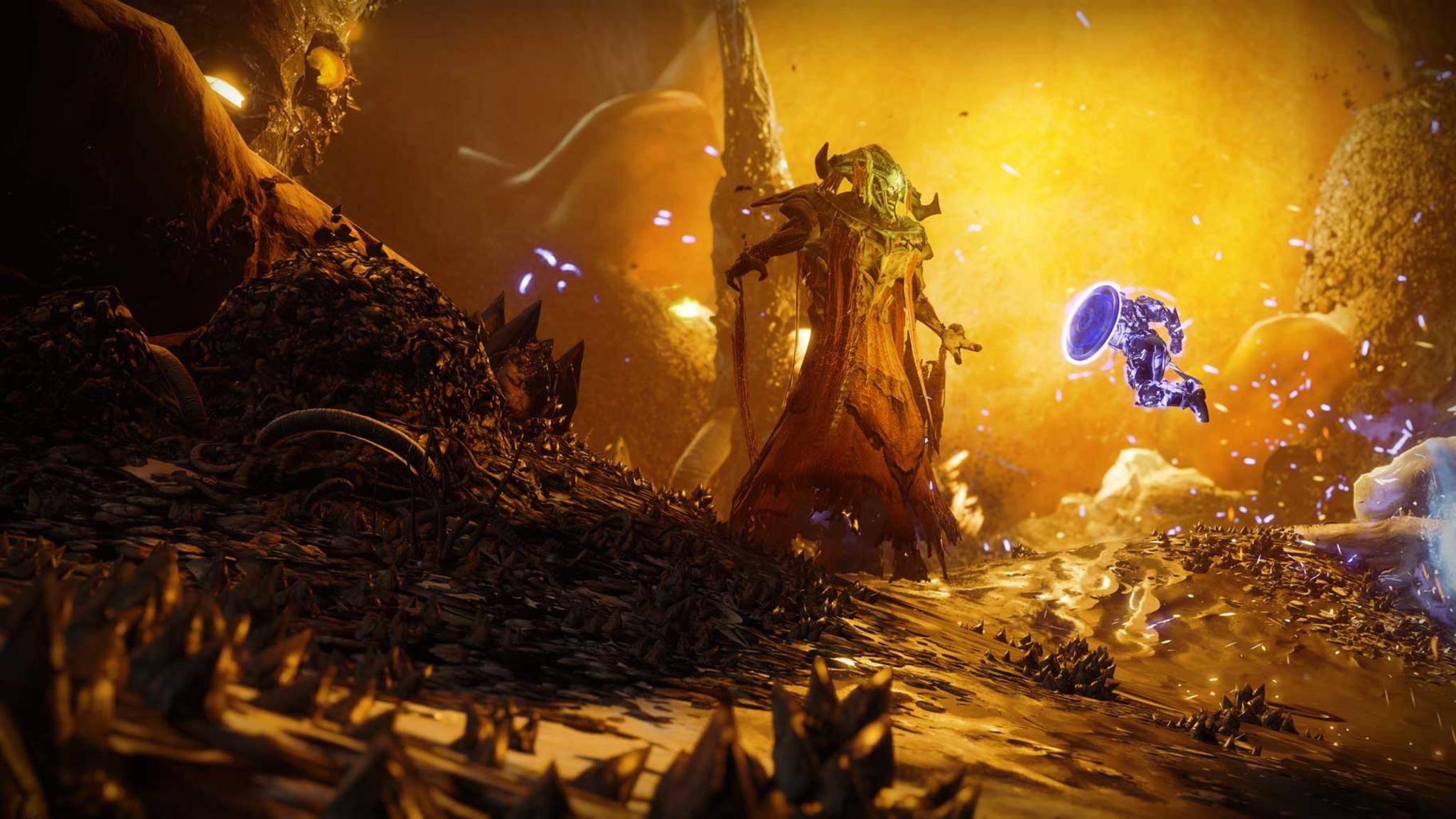 Im zweiten DLC geht es gegen den mächtigen Wurm-Gott der Schar.