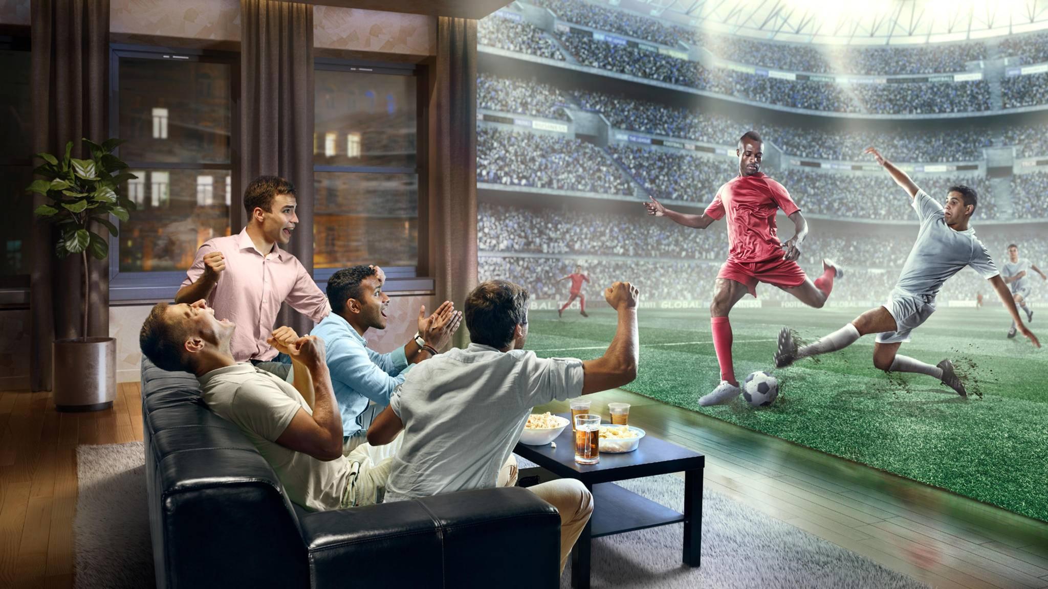 Viele Spiele der Fußball WM 2018 können sogar in scharfer UHD-Auflösung geschaut werden.