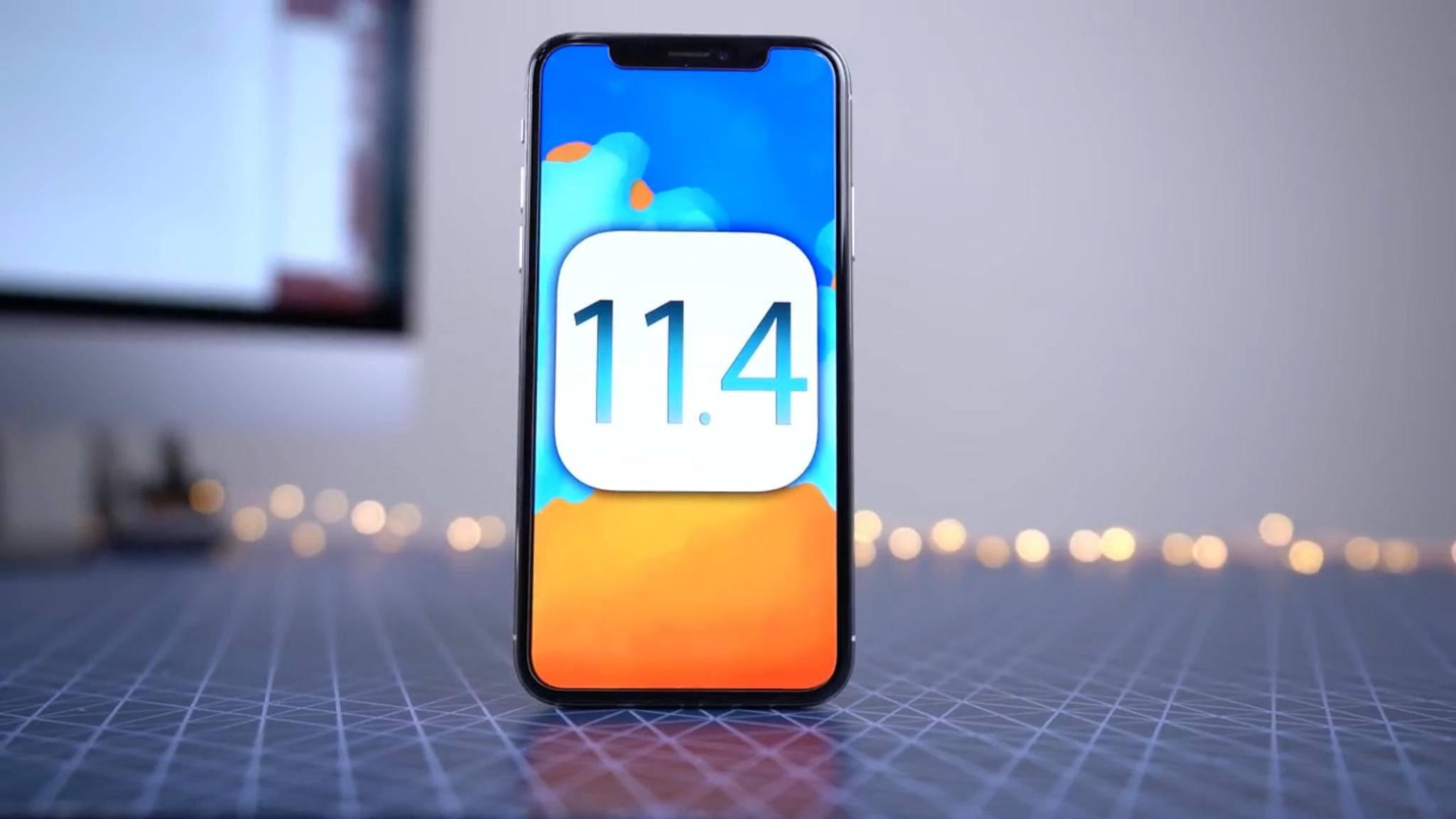 Kurz vor der Präsentation von iOS 12 stellte Apple iOS 11.4 zum Download bereit.