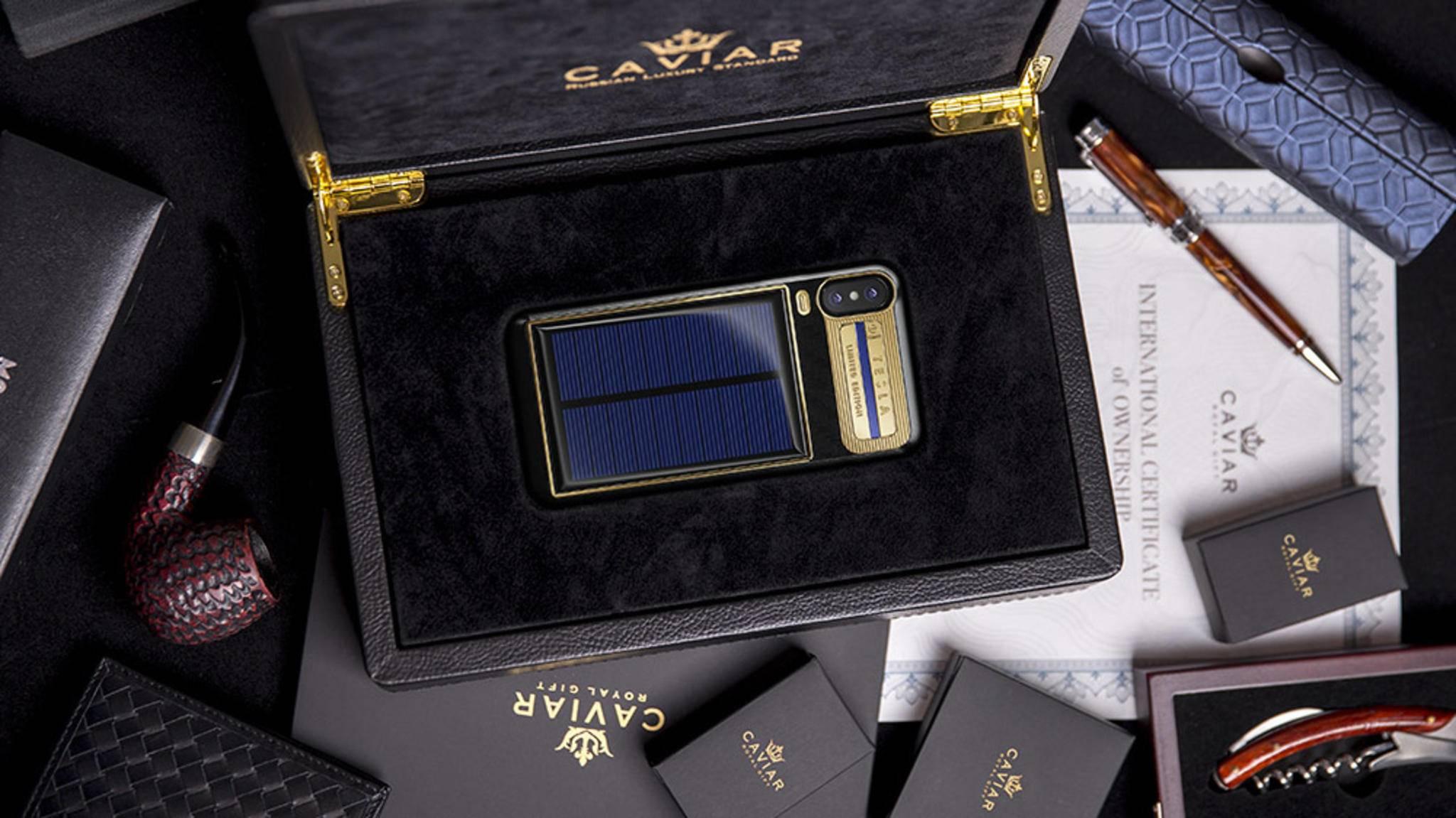 Die Laufzeit des iPhone X kann jetzt mit Solarenergie verlängert werden.