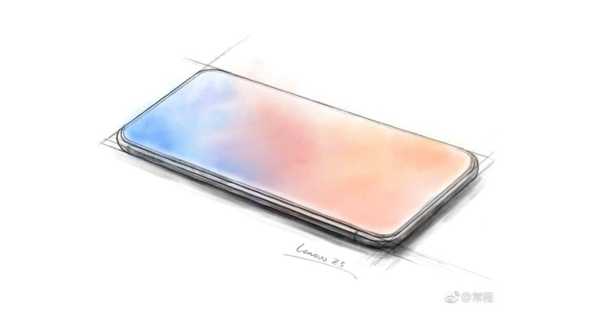 So ähnlich könnte das innovative Lenovo Z5 aussehen.