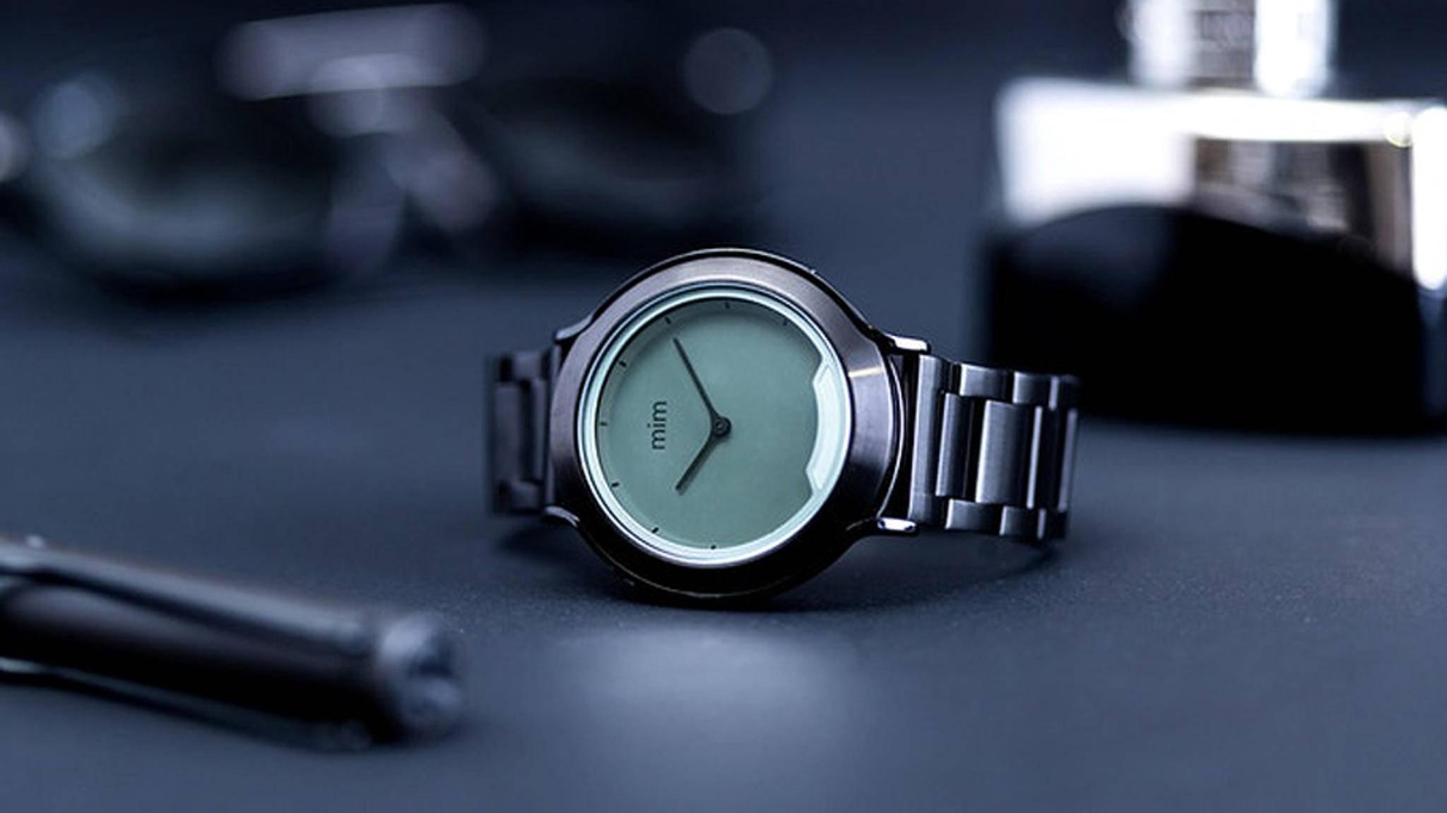 Edle Optik, smarte Features, lange Akkulaufzeit: Die Smartwatch mim X wird derzeit auf Kickstarter finanziert.