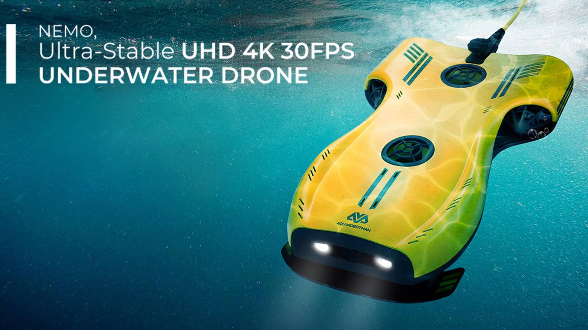 Die Unterwasser-Drohne Nemo kann bis zu 100 Meter tief tauchen.