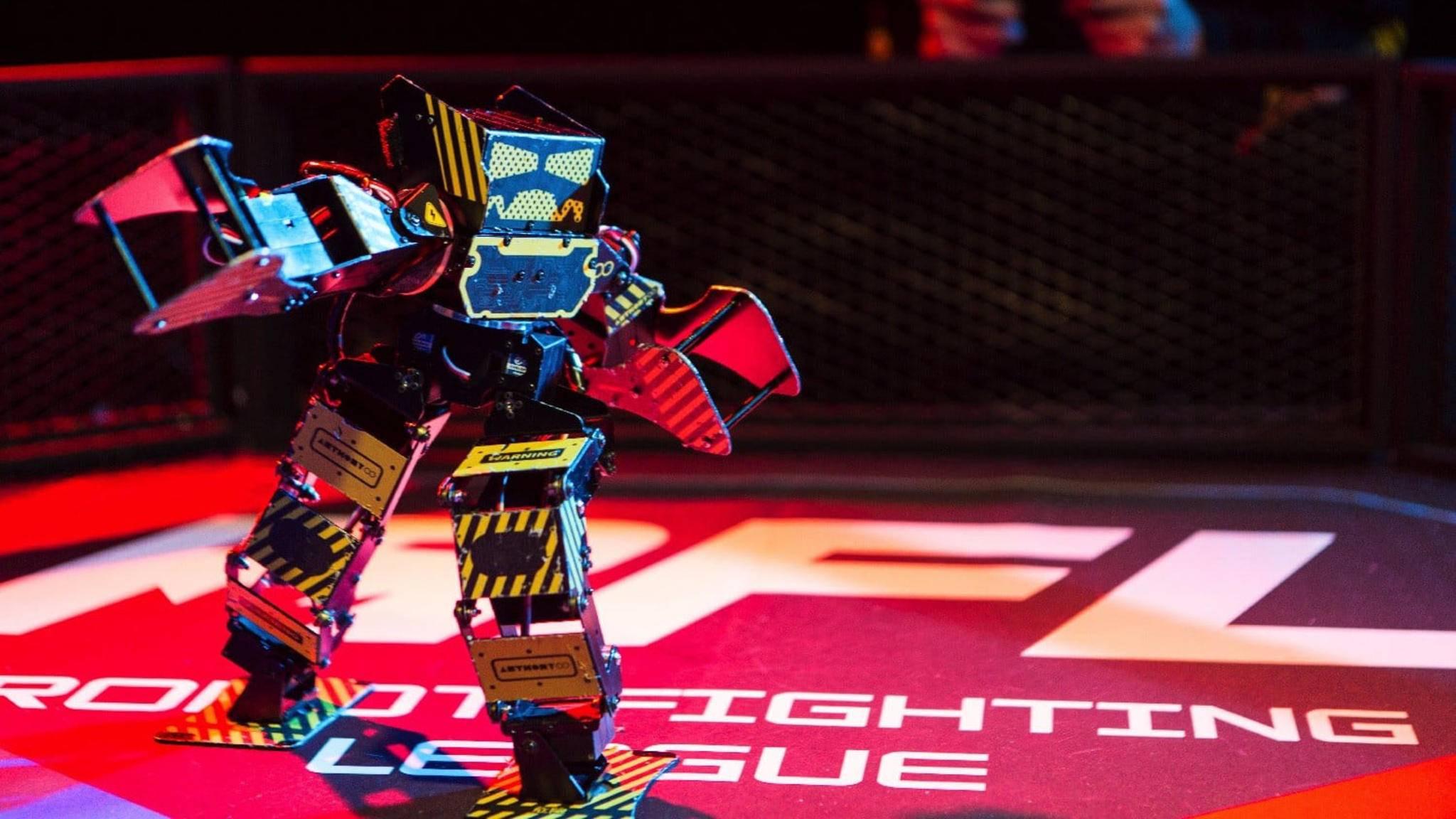 Super Anthony ist ein kleiner Kampfroboter für Arena-Kämpfe.