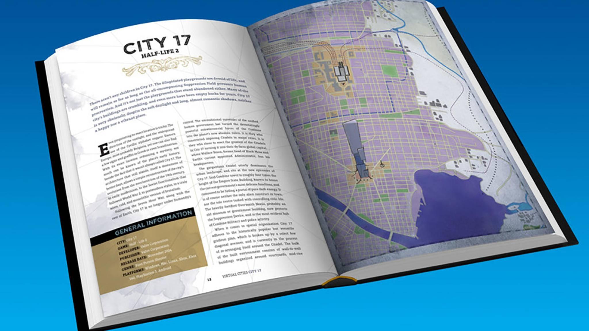 """Der Atlas """"Virtual Cities"""" enthält Karten zu über 40 Städten aus Computerspielen."""