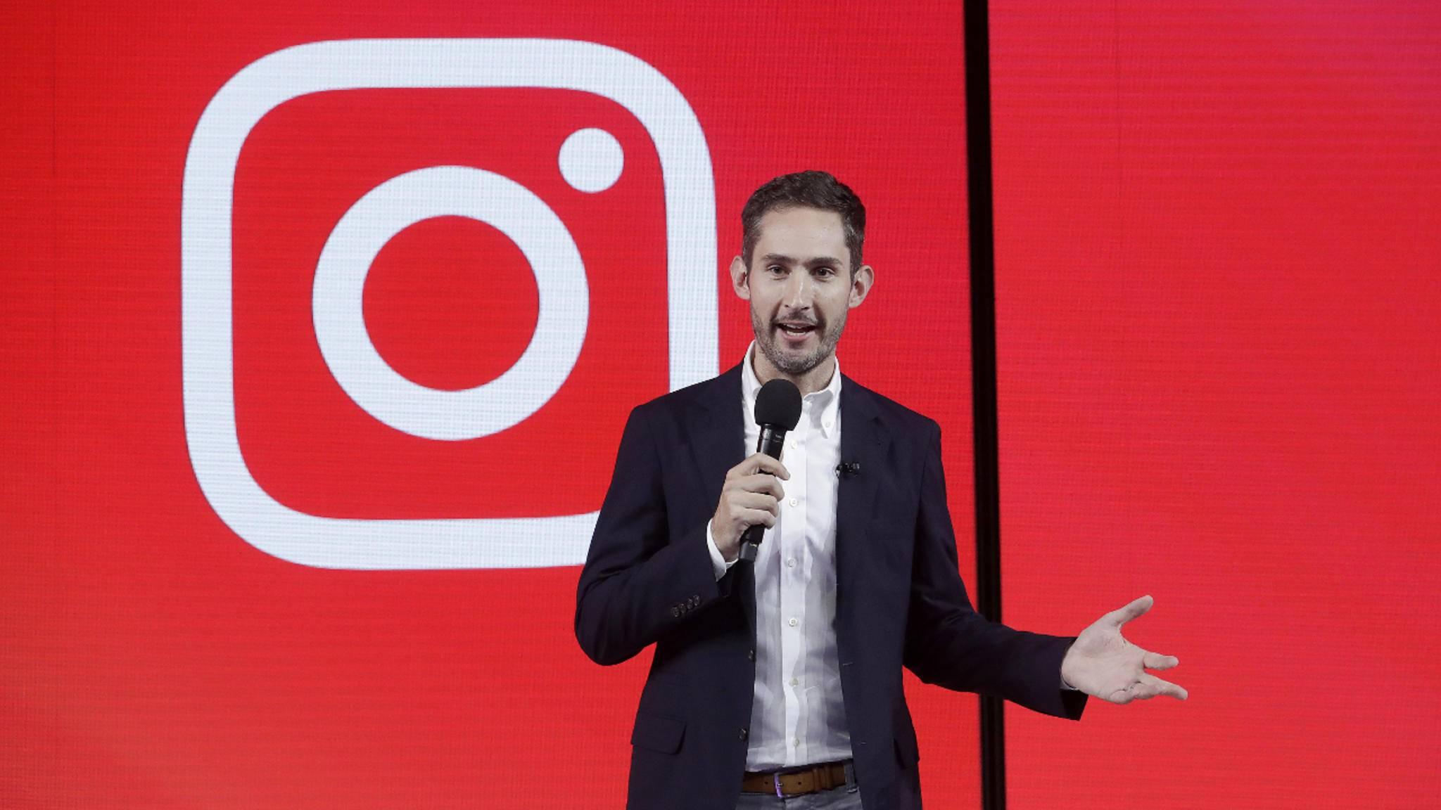 Instagram-Boss Kevin Systrom bei der Vorstellung von IGTV.